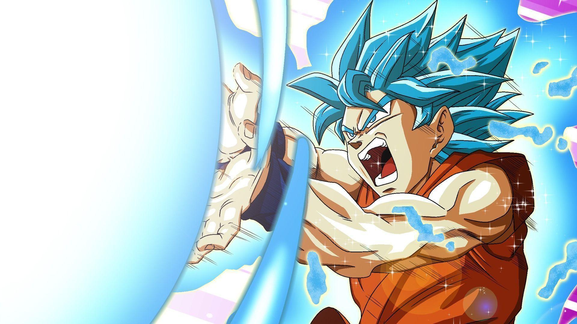 Goku Super Saiyan Blue Kamehameha Wa… Wallpaper #9577
