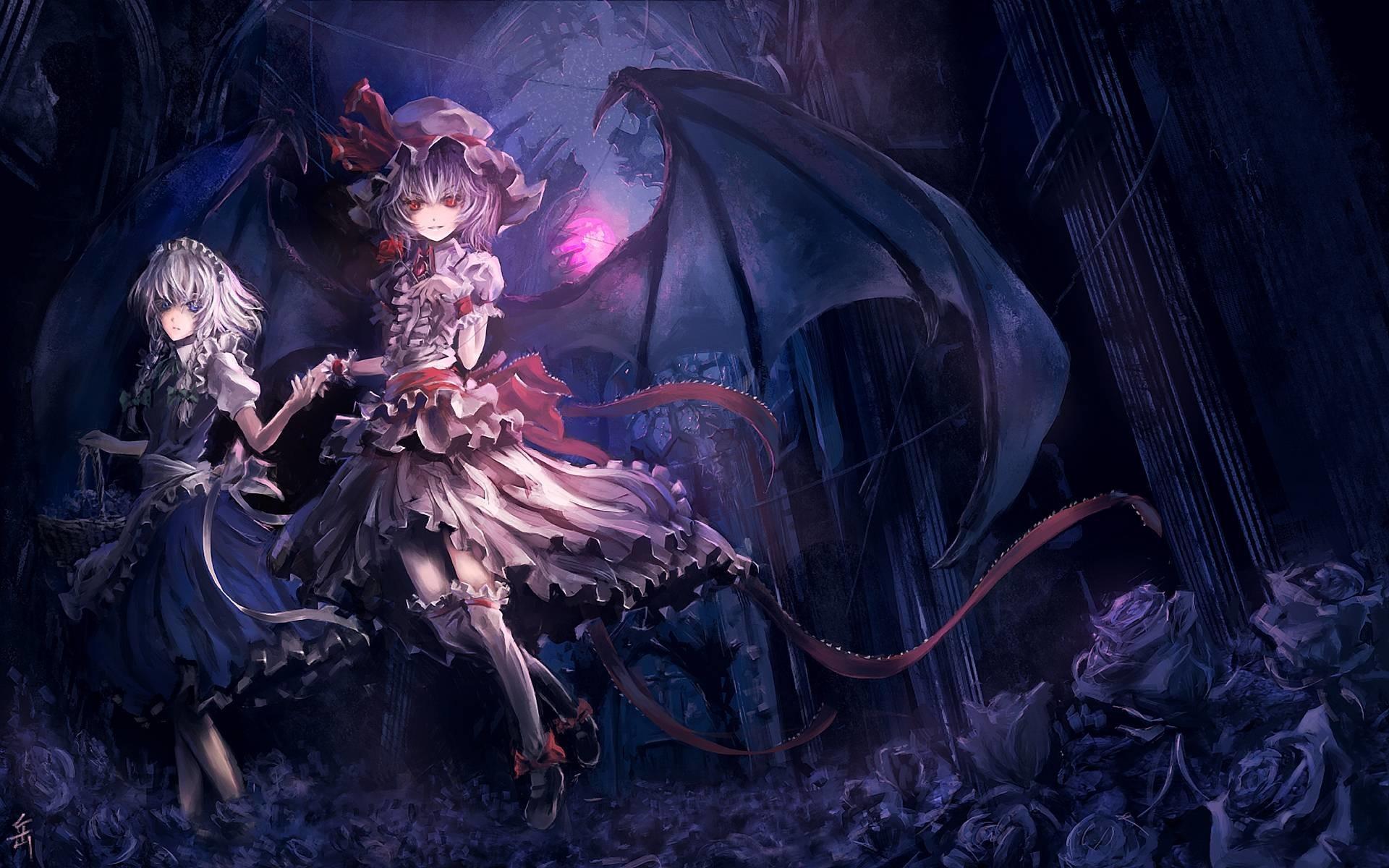 Dark Anime Scenery Wallpaper High Quality