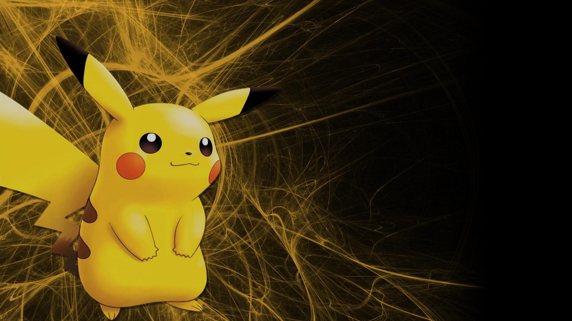 Pikachu, Pikachu against a simple black background. Keeping it classy.