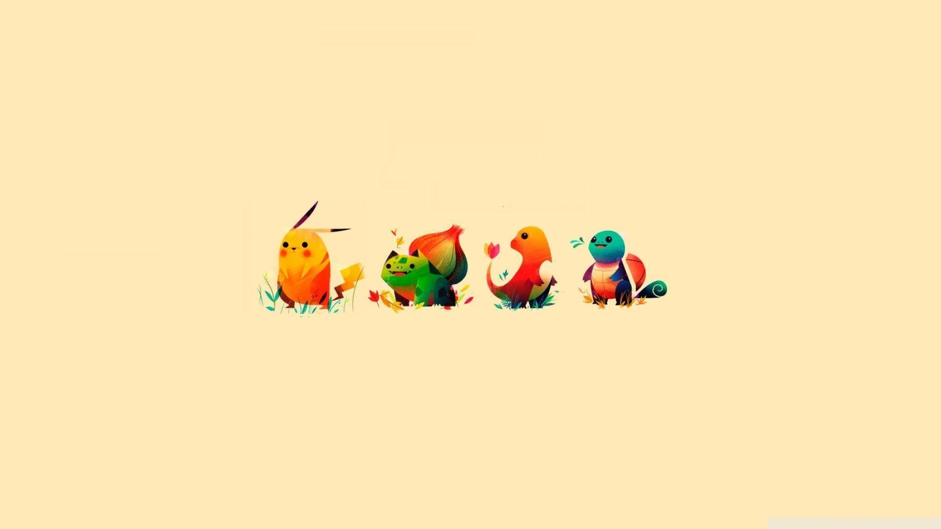 Download Pokemon Bulbasaur Pikachu Charmander Squirtle Wallpaper .