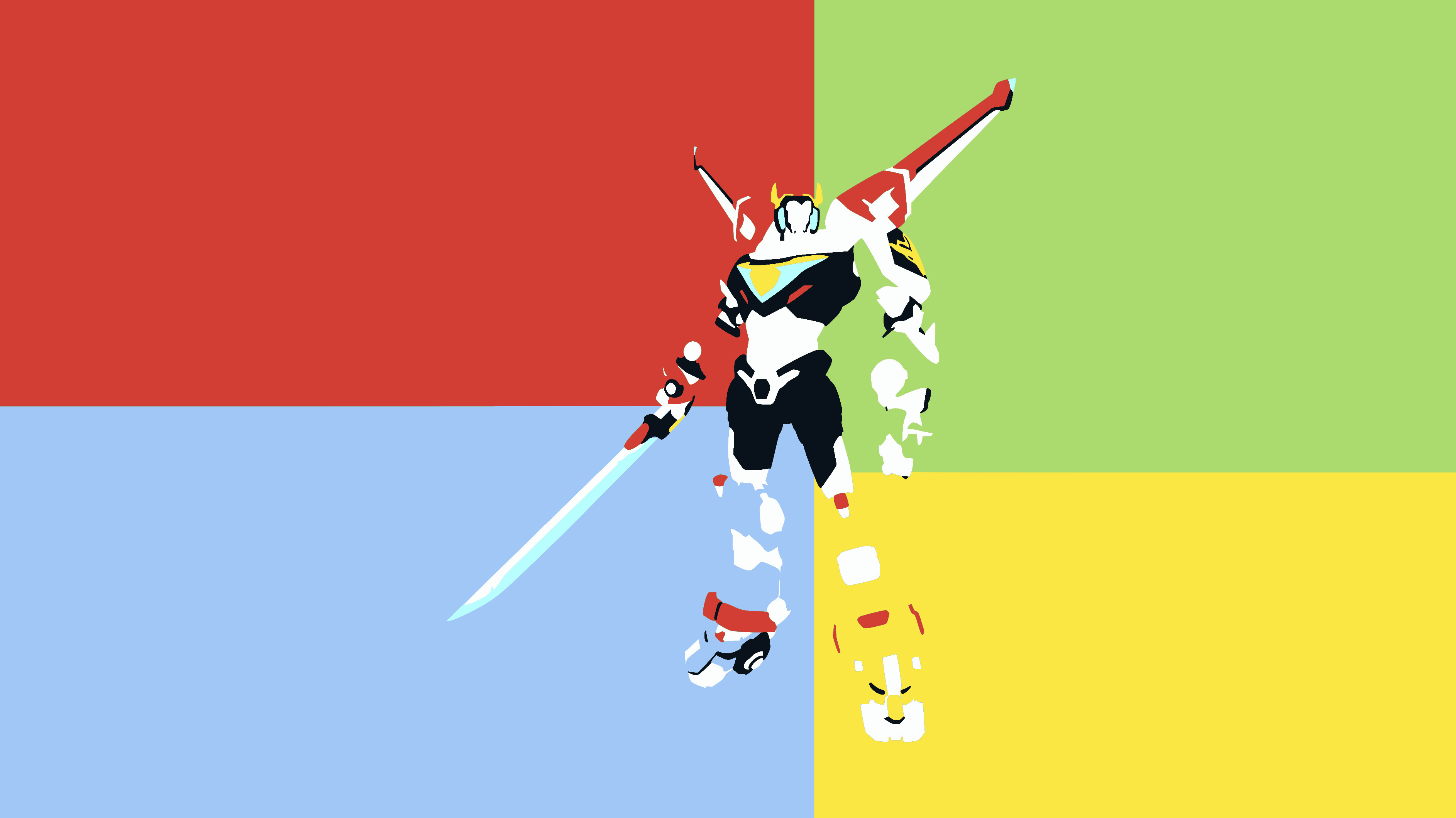 Voltron Minimalist Wallpaper by DamionMauville Voltron Minimalist Wallpaper  by DamionMauville
