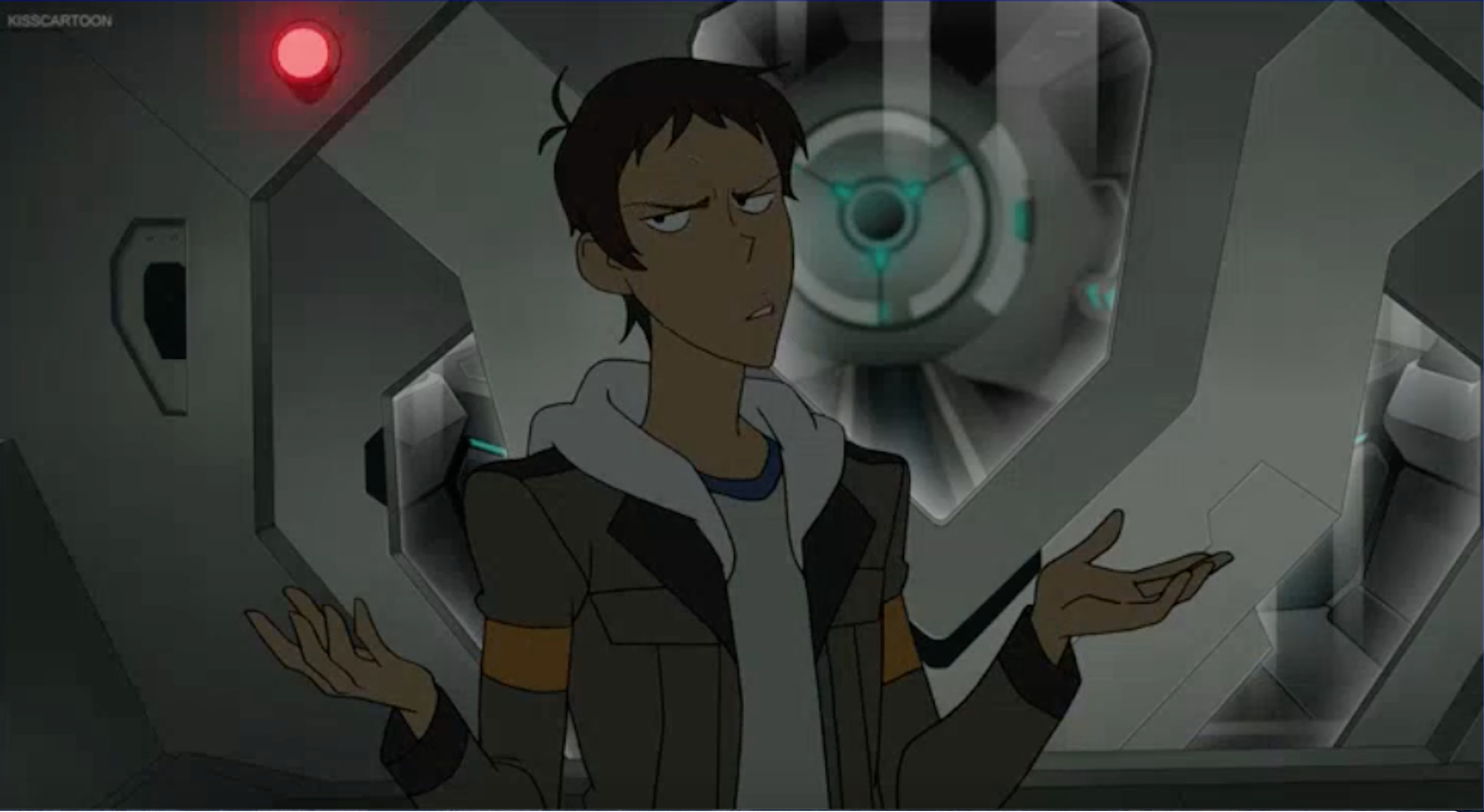 Lance locked in the airlock from Voltron Legendary Defender