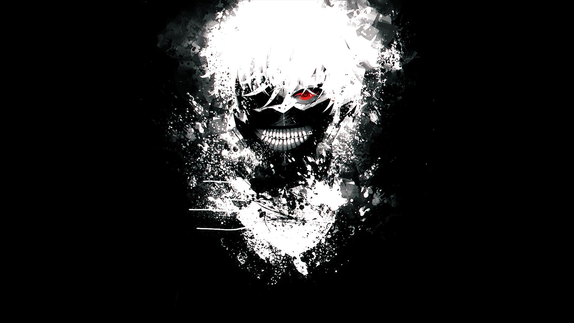 Tokyo Ghoul Kaneki Ken Black and White Wallpaper