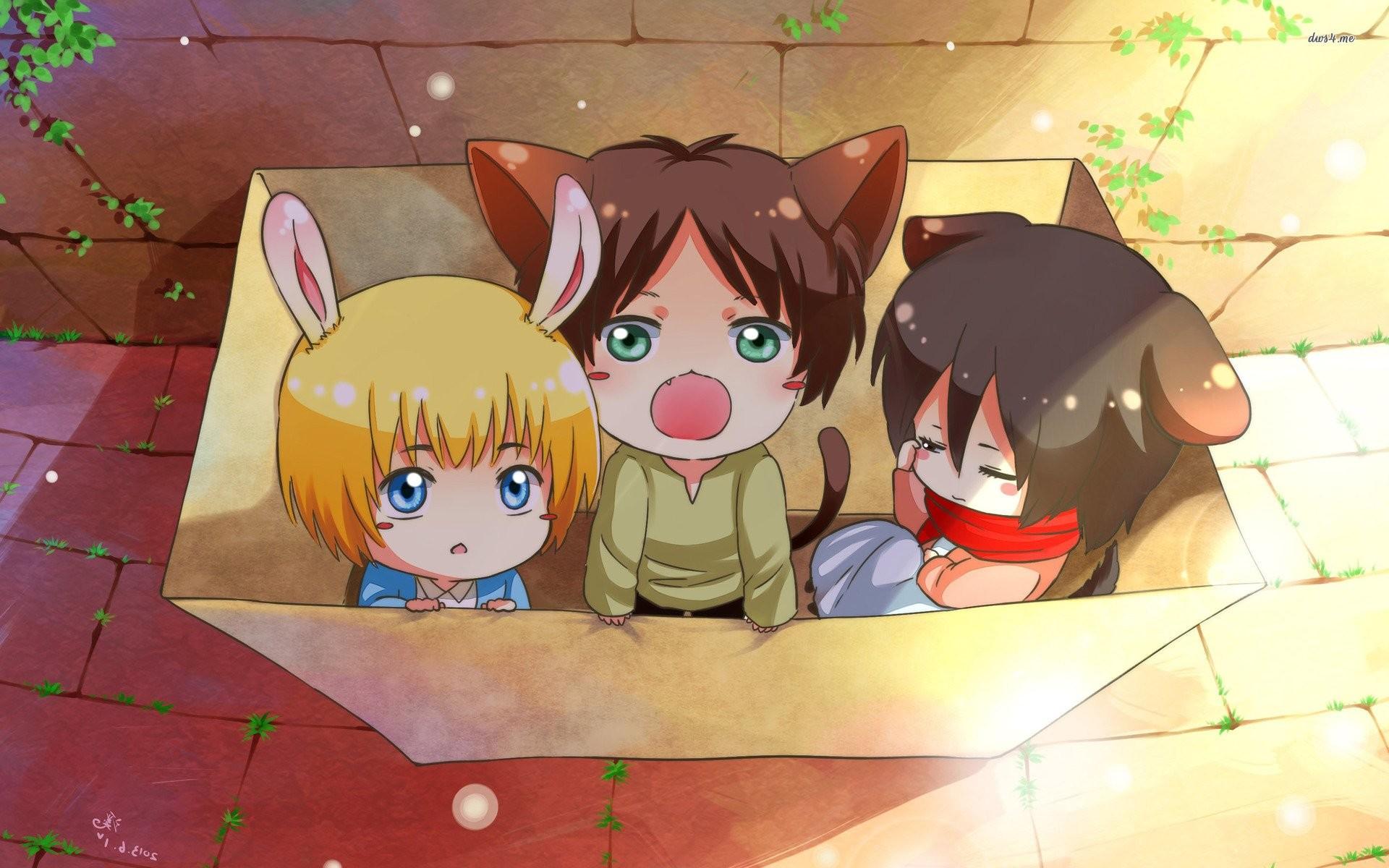 Attack on titan anime cute wallpaper     1027638   WallpaperUP
