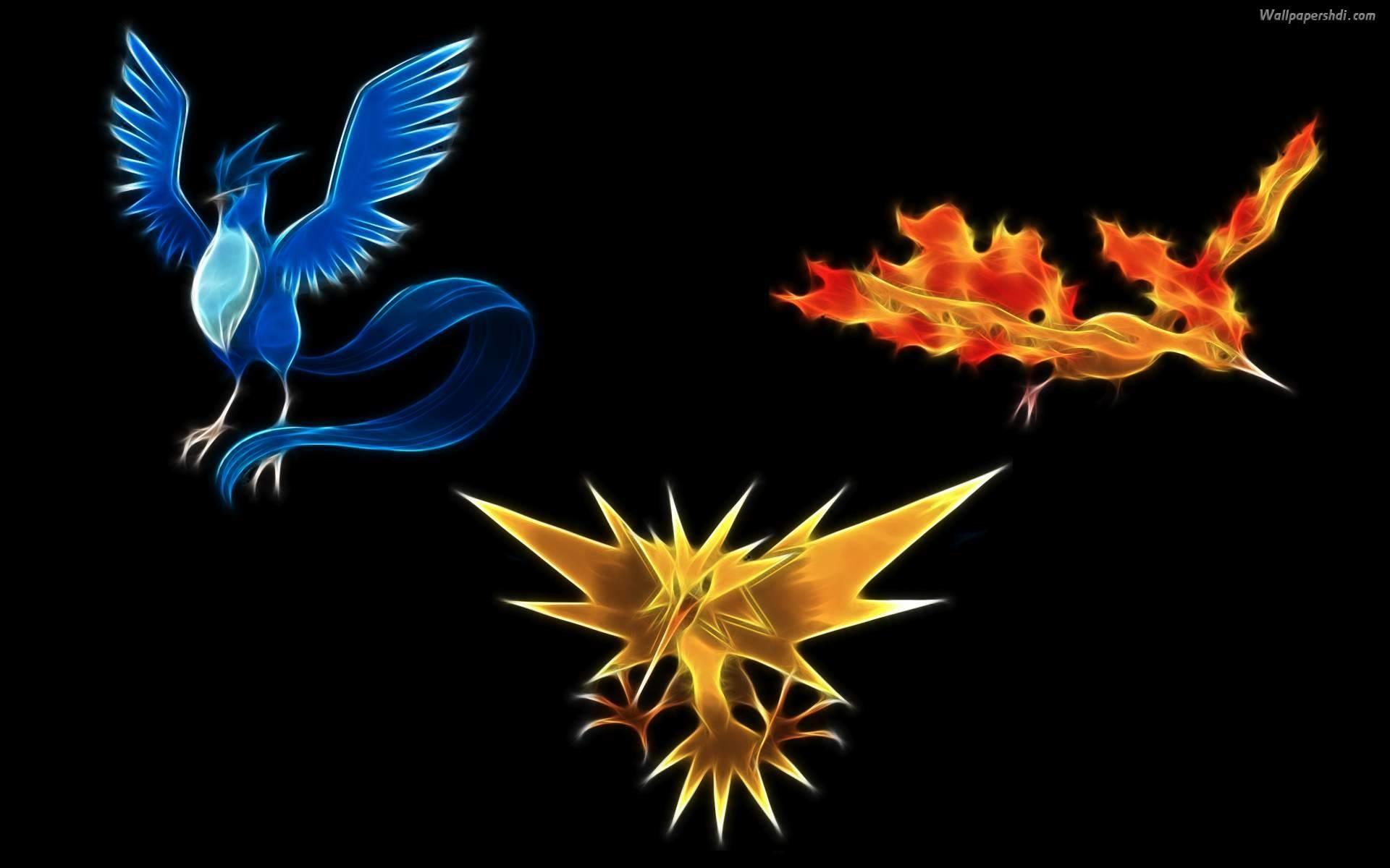 3 legend bird – Pokemon Wallpaper