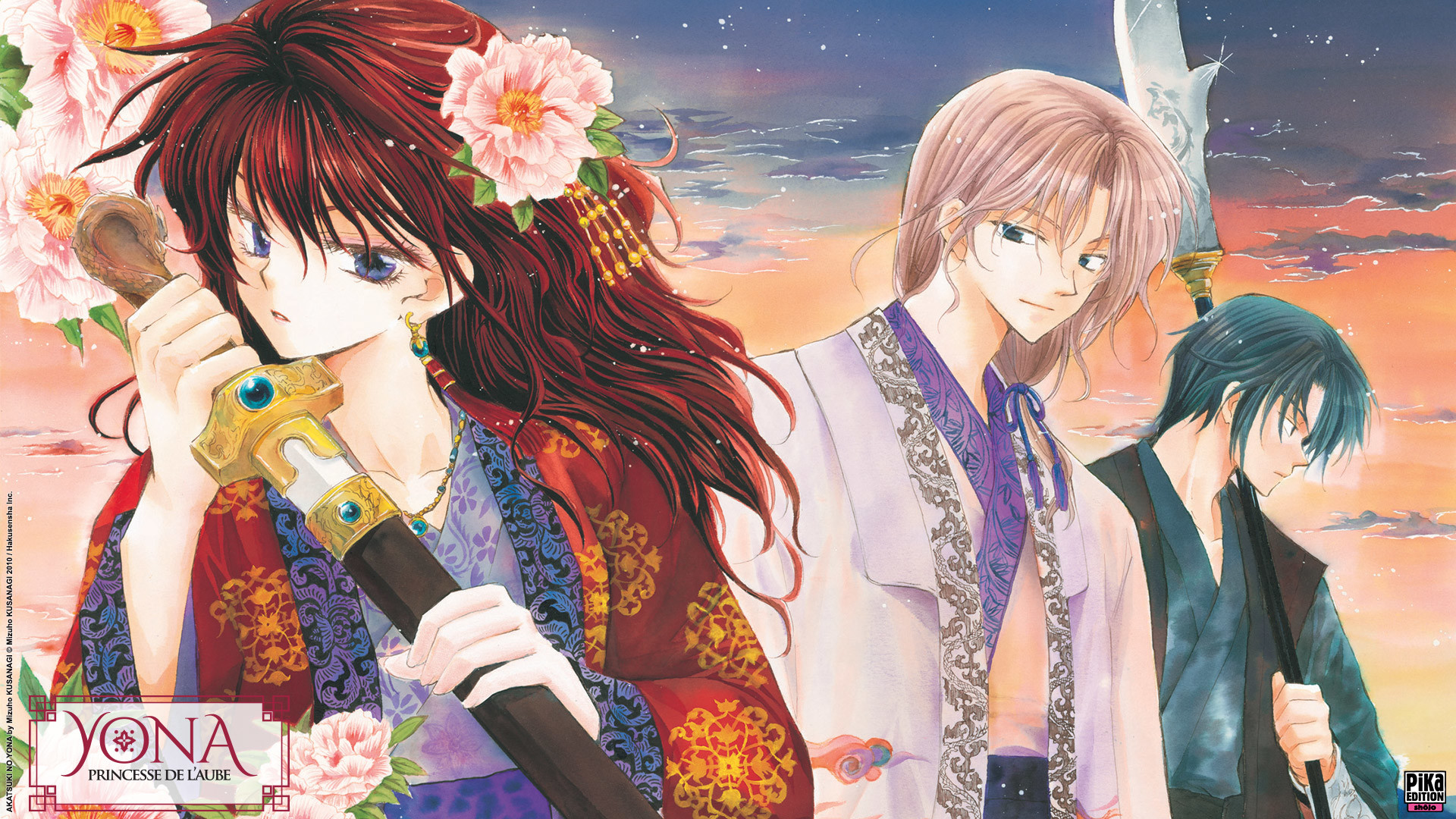 Akatsuki no Yona wallpapers released by the french publisher Pika .