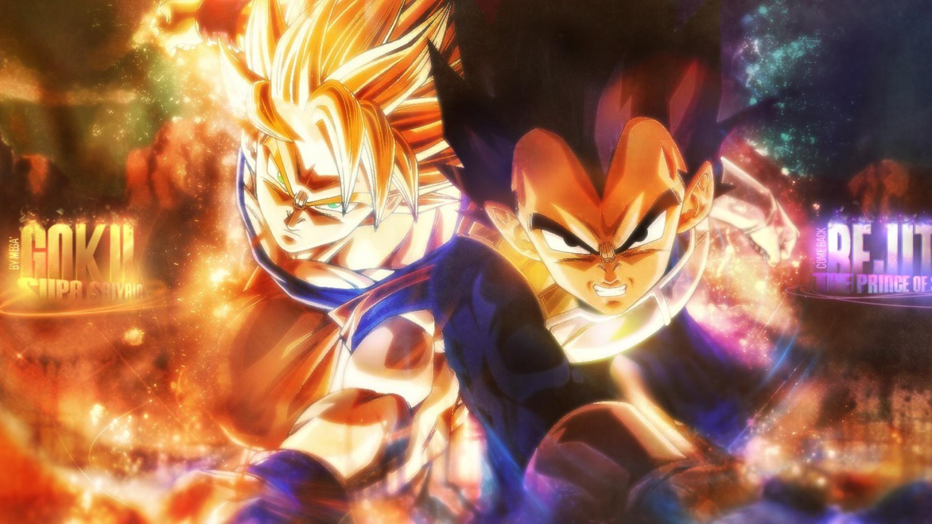vegeta son goku dragon ball super saiyan HD Wallpaper of Anime & Manga