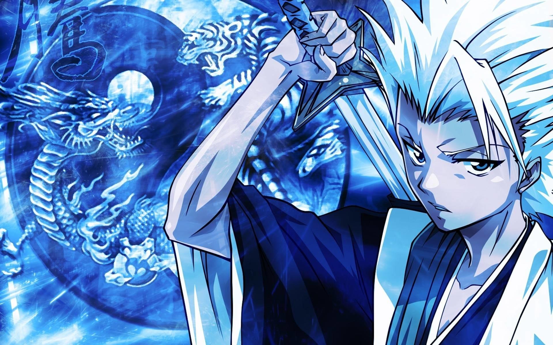 Blue Anime Guy Wallpaper