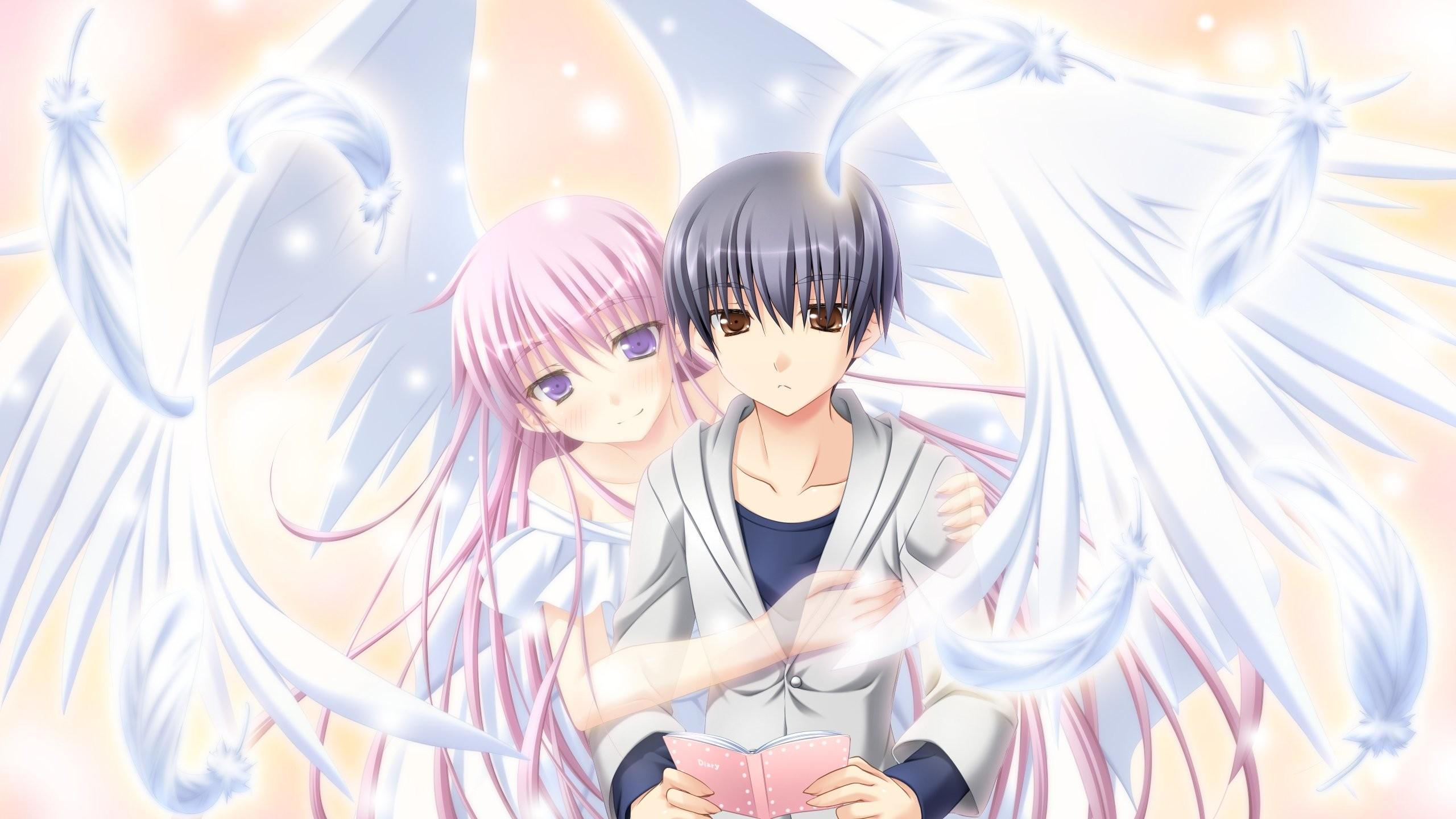 Anime Angel Girl And Boy