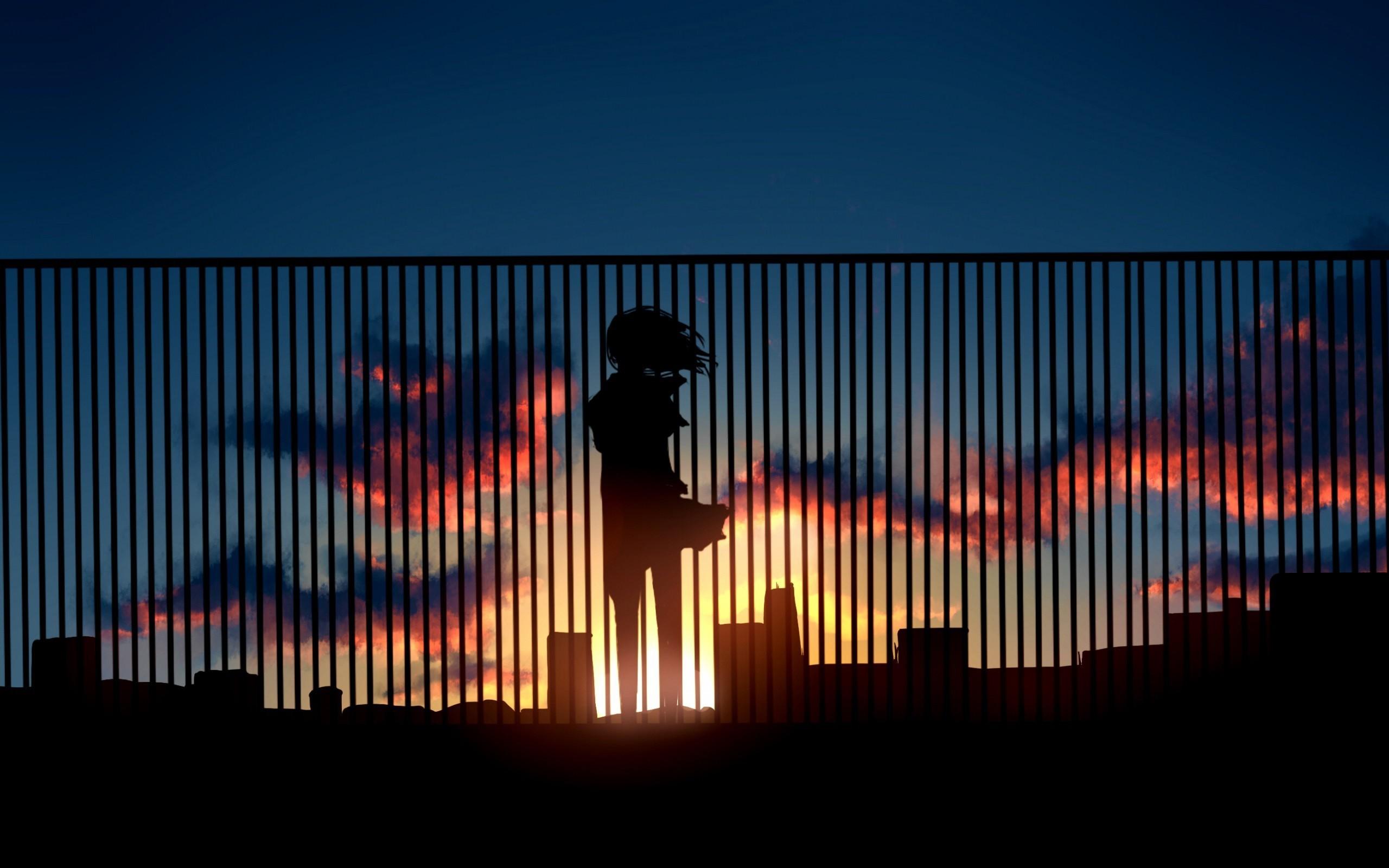 Description: Download Alone Metro Sunset Anime wallpaper …