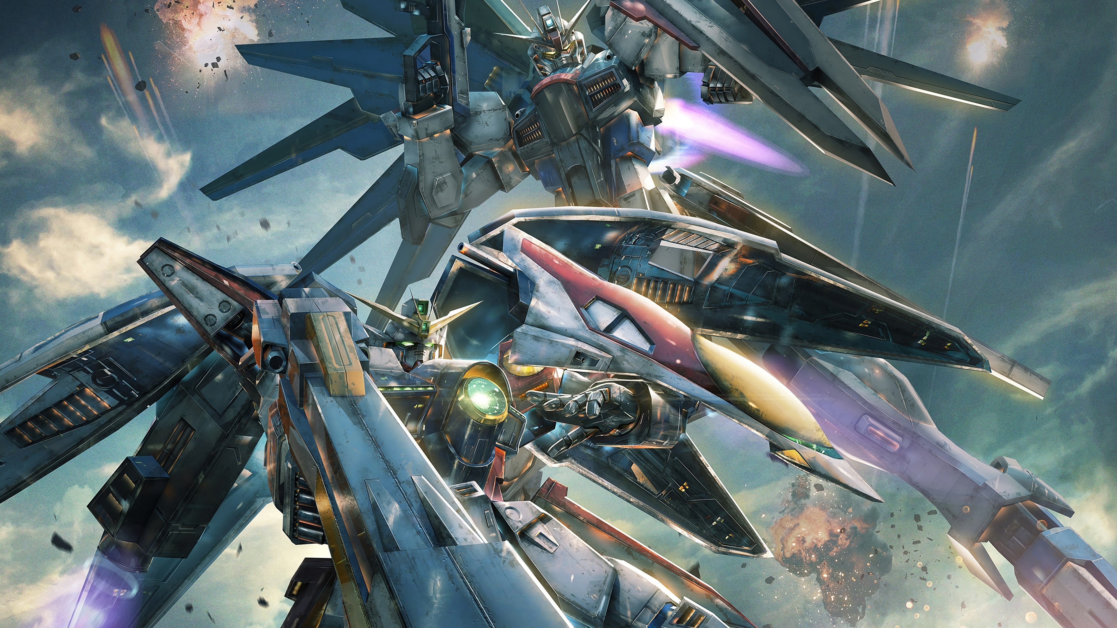 Cool Gundam Versus 4K PlayStation 4 (PS4) Game wallpaper Check  more at http