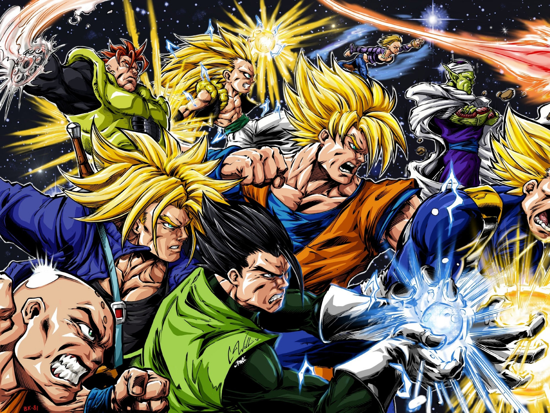 Dragon Ball Z All Characters wallpapers high resolution