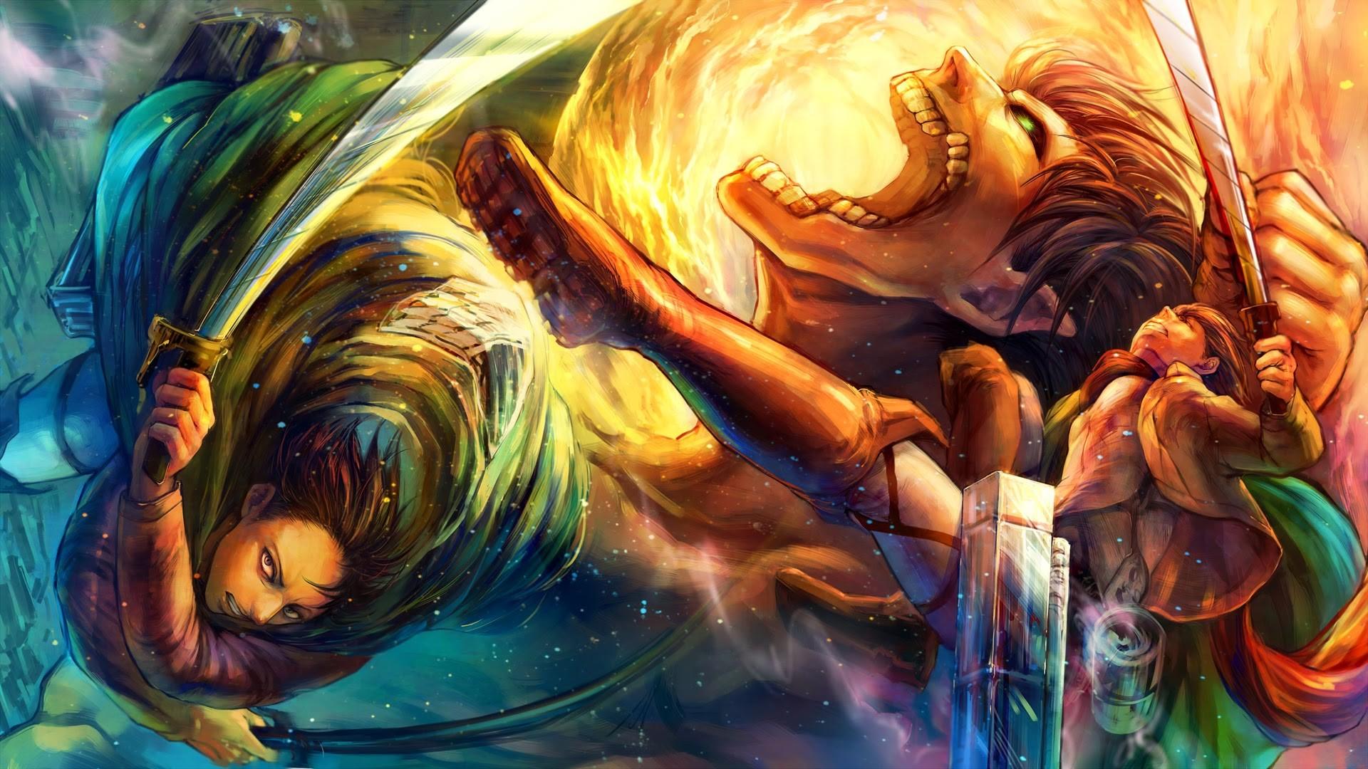 Anime – Attack On Titan Levi Ackerman Eren Yeager Wallpaper