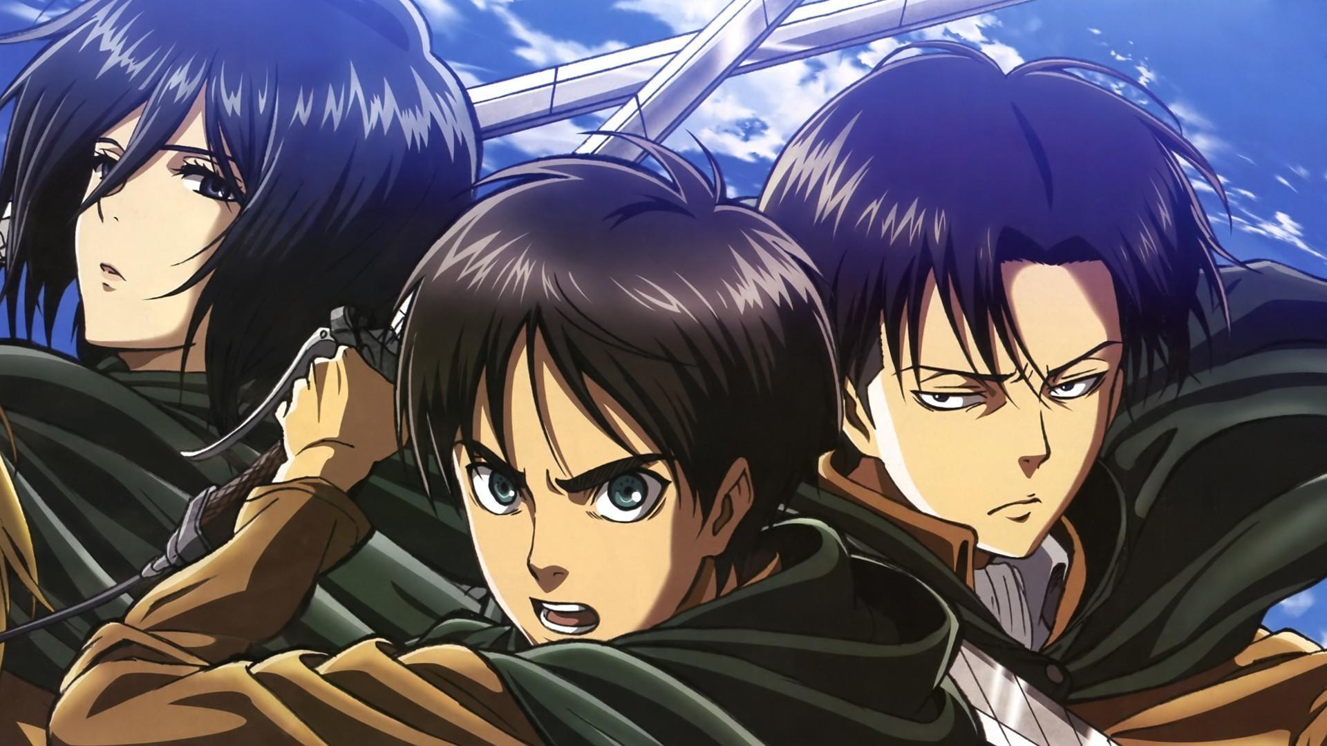 shingeki no kyojin cape eren jaeger mikasa ackerman rivaille shingeki no  kyojin short hair sword uniform