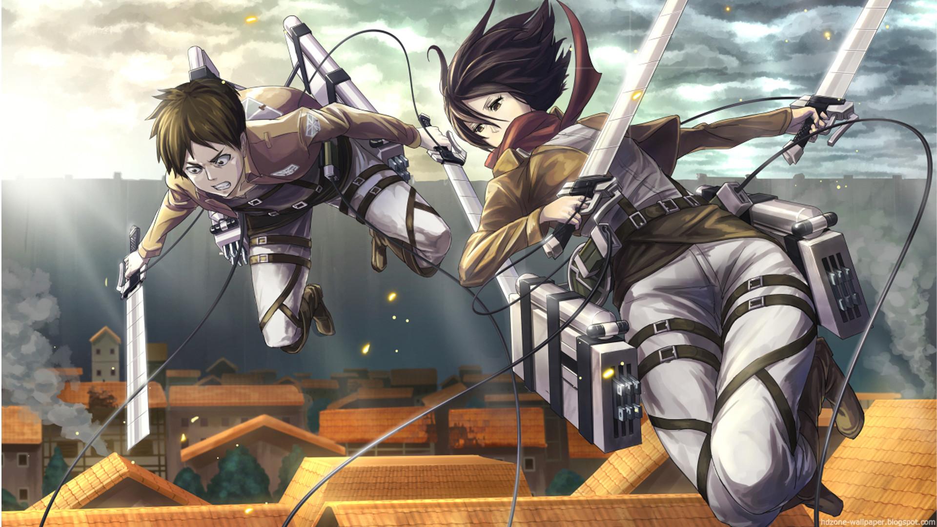 Eren e Mikasa Attack on titan