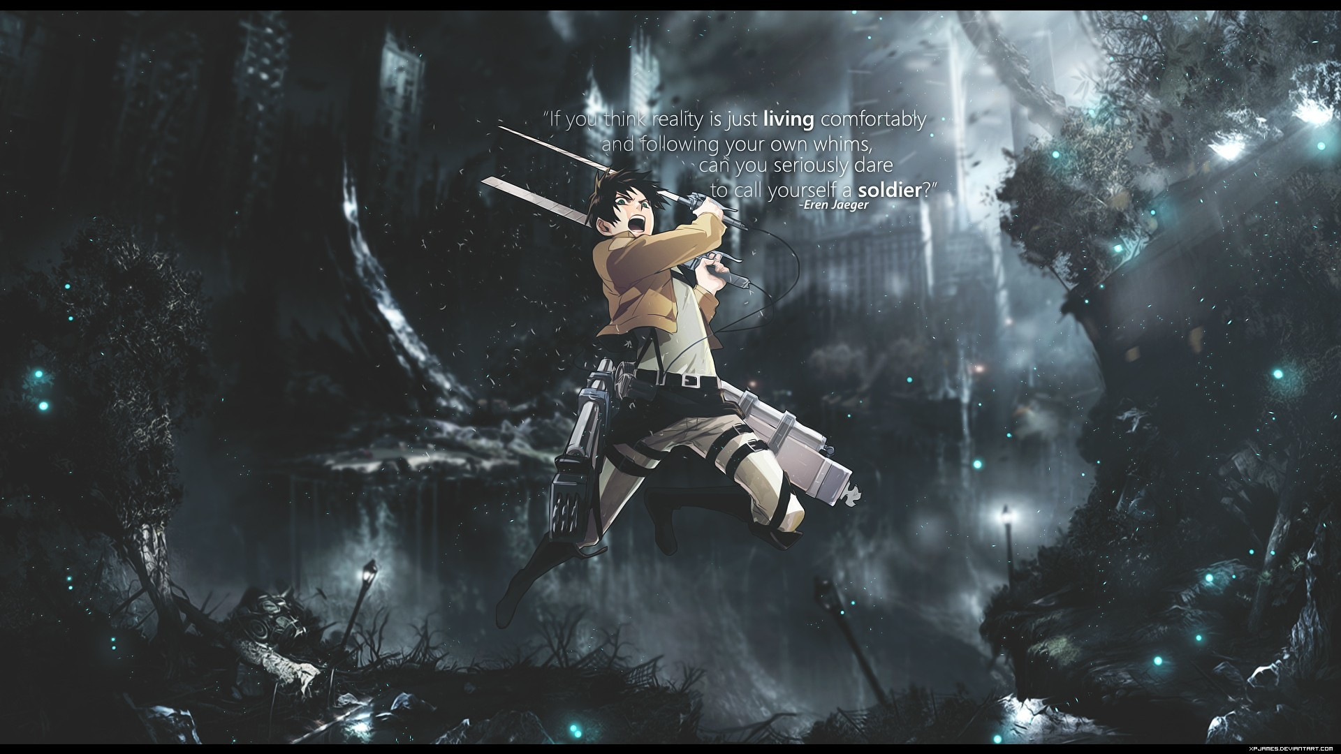 Shingeki No Kyojin Eren Jaeger 14 Background Wallpaper. Shingeki No Kyojin  Eren Jaeger 14 Background Wallpaper