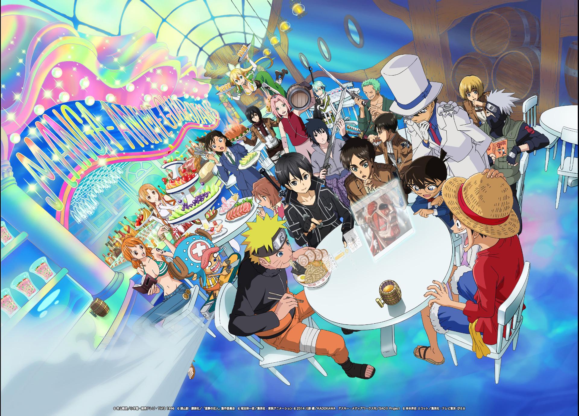 Anime – Crossover Naruto Uzumaki Monkey D. Luffy Kazuto Kirigaya Sakura  Haruno Mikasa Ackerman Armin