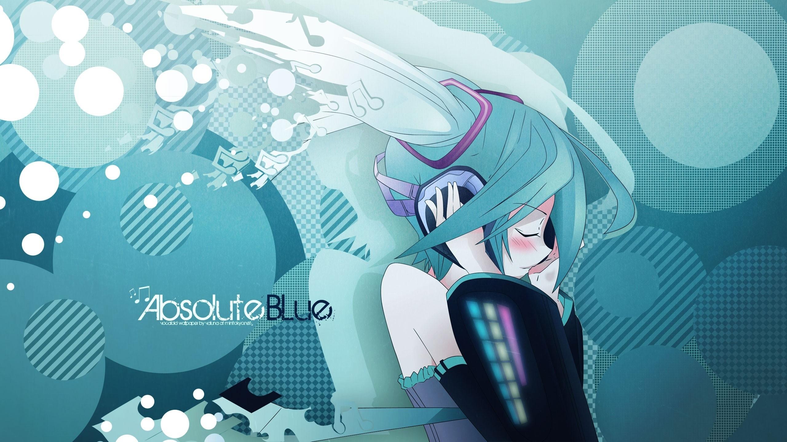 Wallpaper hatsune miku, girl, headphones, water, music