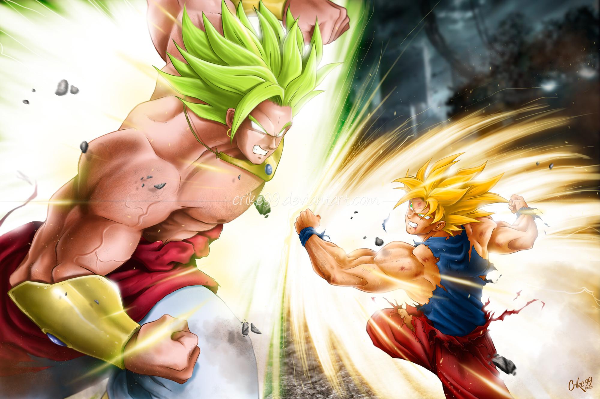Goku vs Broly – REMAKE 2013 – by Crike99 on DeviantArt