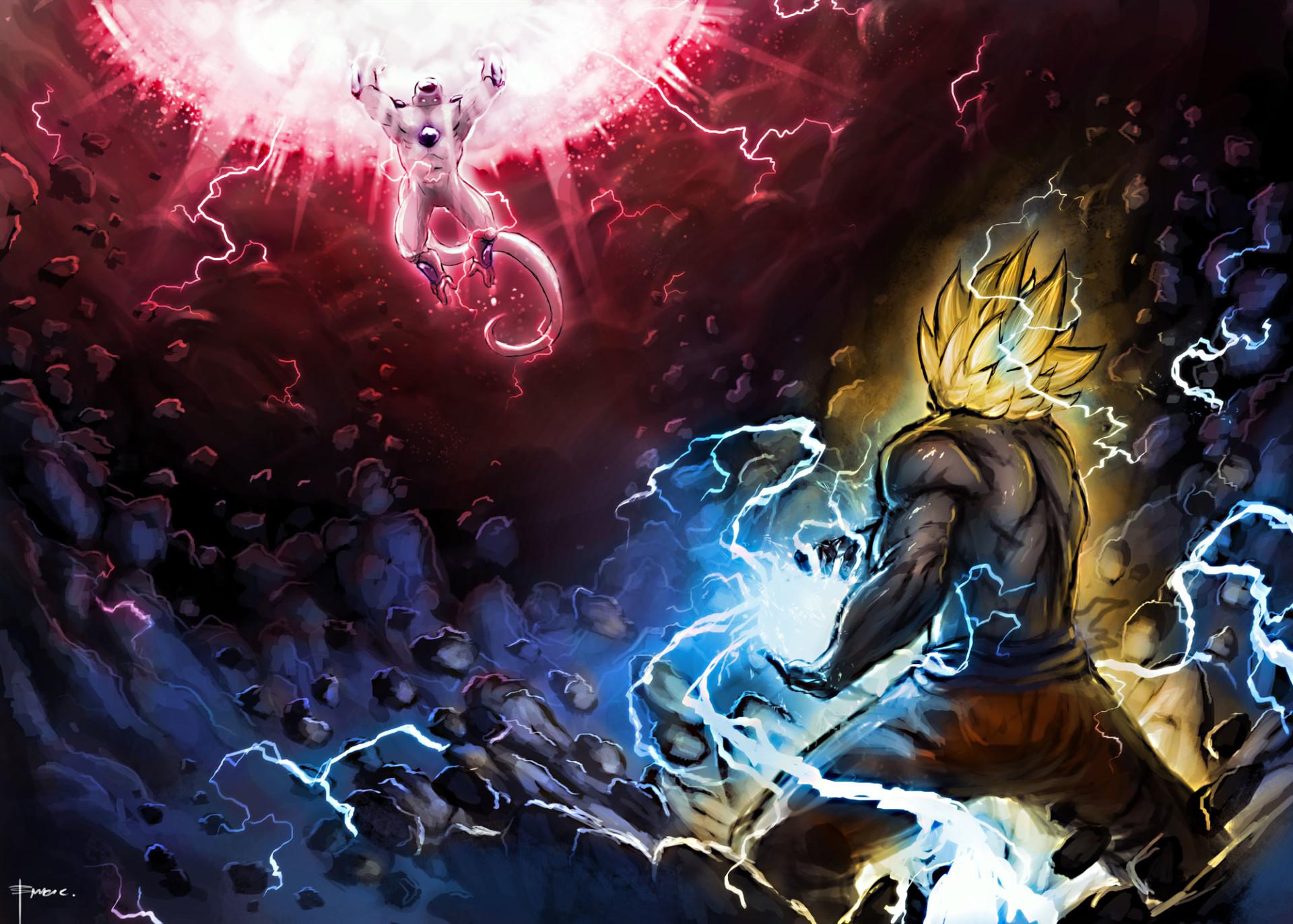 Anime Dragon Ball Z Dragon Ball Goku Super Saiyan Freeza (Dragon Ball)  Kamehameha Wallpaper