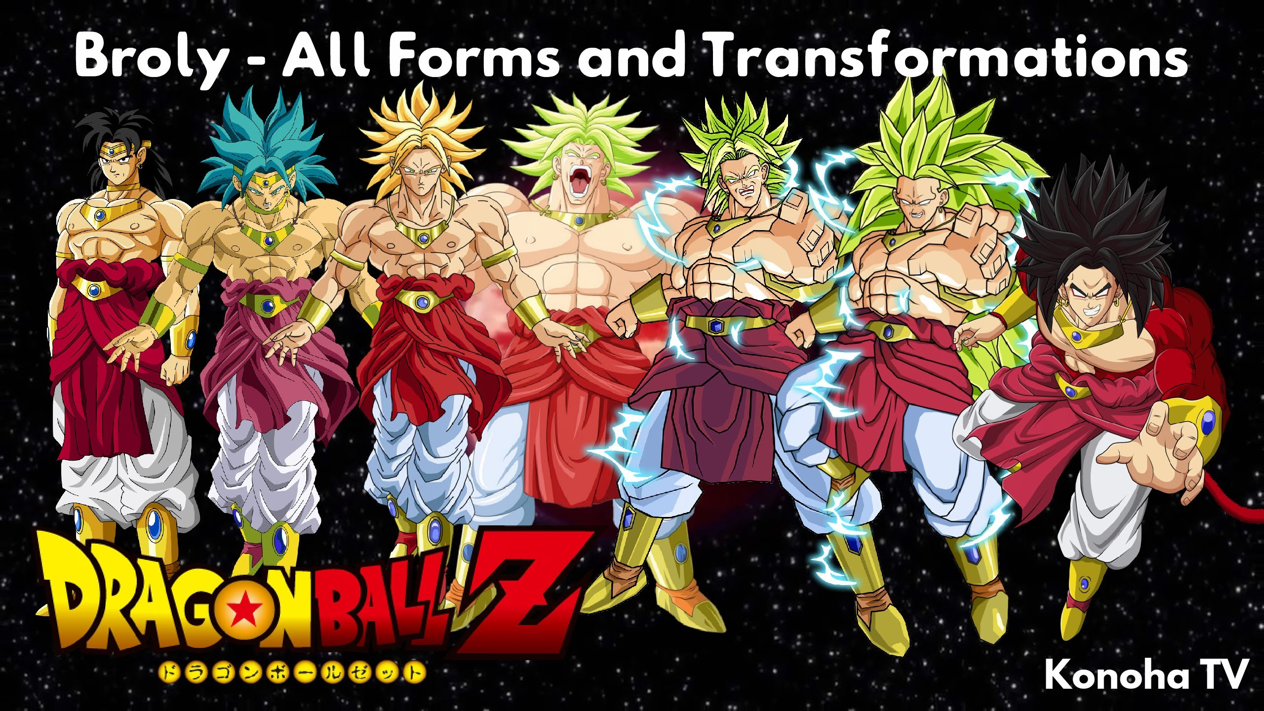 Broly – All Forms and Transformations (Dragon Ball Z – Dragon Ball Heroes)  – YouTube