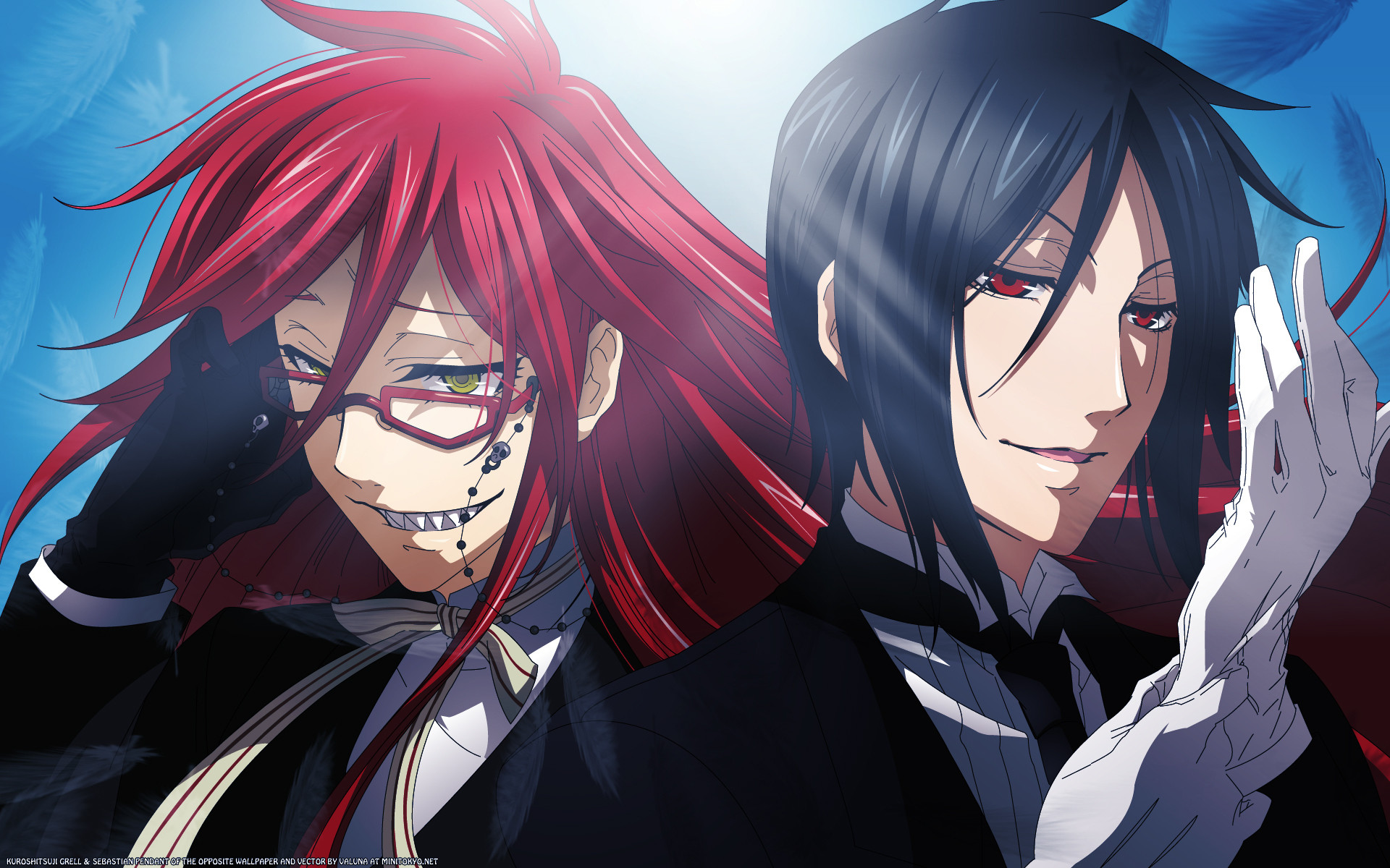 Black Butler Characters images Grell & Sebastian HD wallpaper and  background photos