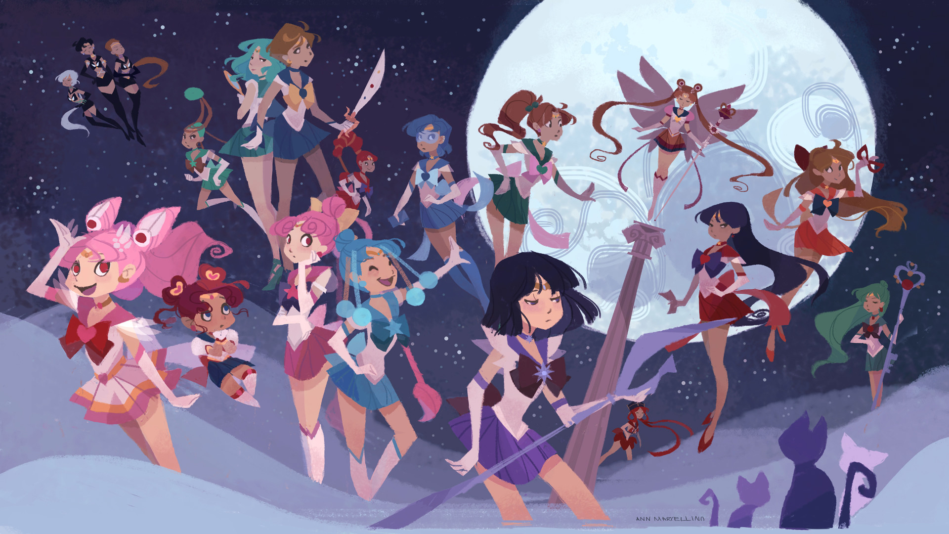 Sailor Soldiers Wallpapers by nna Sailor Soldiers Wallpapers by nna