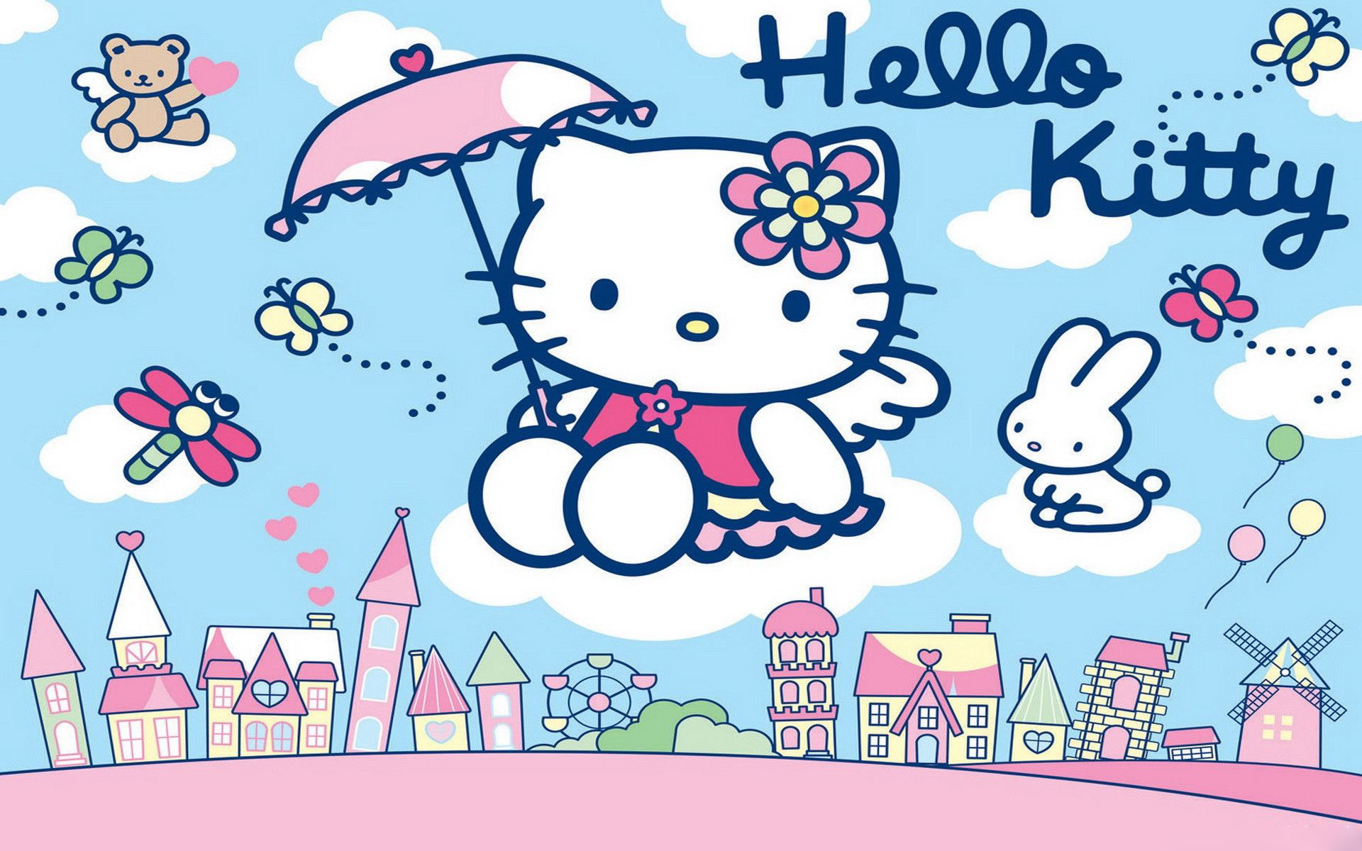 Hello Kitty Wallpapers HD Free Download.