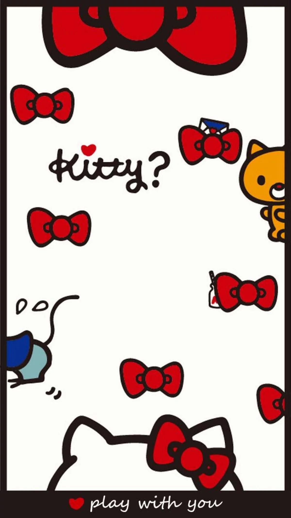 Kitty Wallpaper, Hello Kitty, Sanrio, Phone Wallpapers, Kawaii, Cartoons,  Covers, Screen, Love