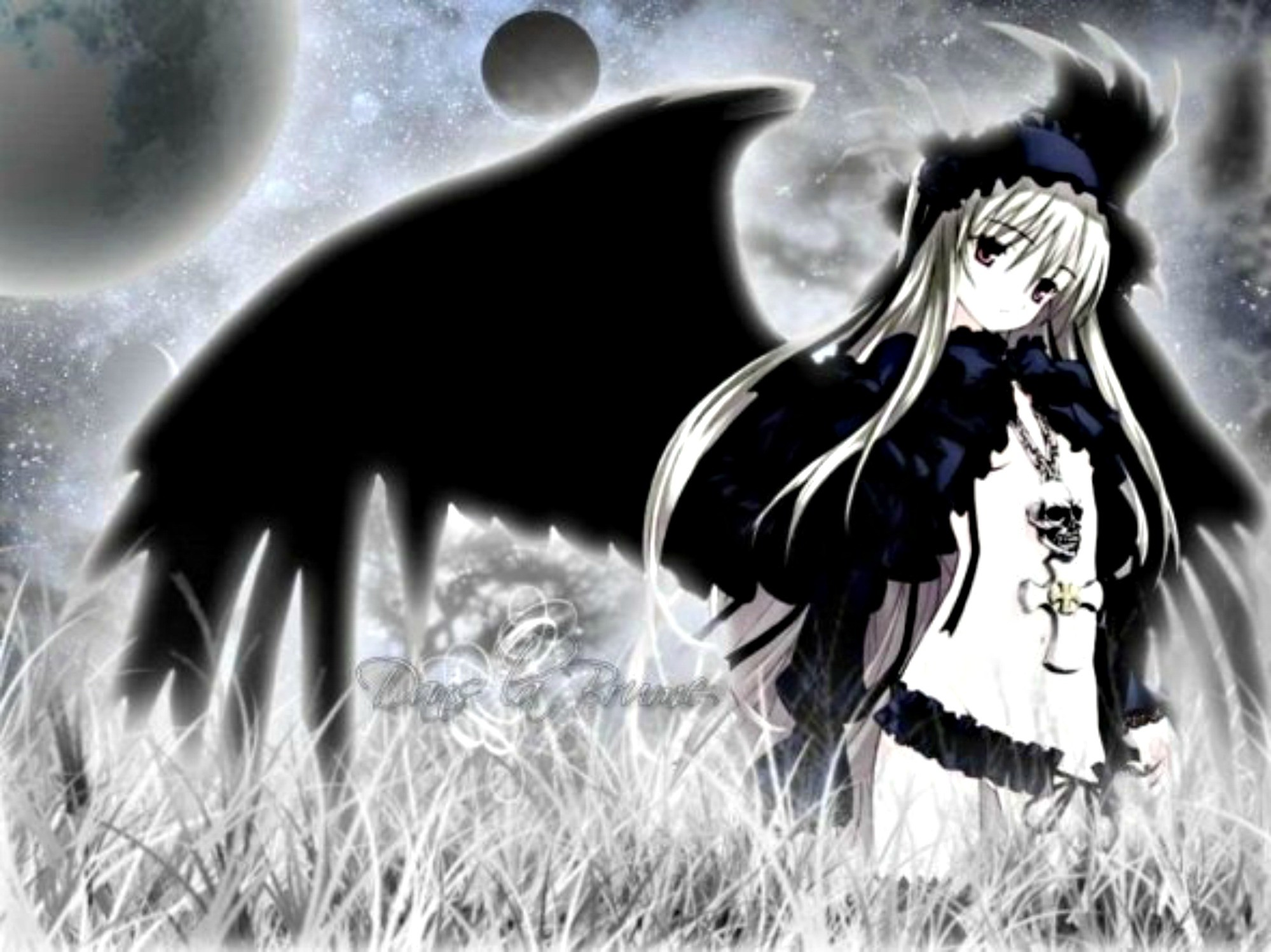 56 Dark Anime Girl