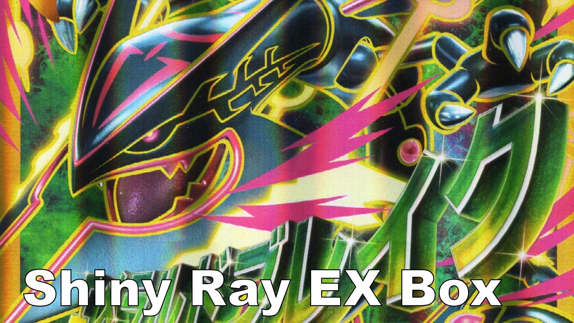 Pokemon Shiny Rayquaza EX Box w/ Shiny Mega Rayquaza Jumbo Card – YouTube