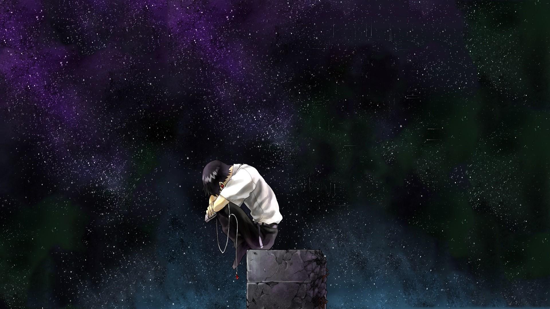Neon Genesis Evangelion, Ikari Shinji, Stars, Alone, Anime
