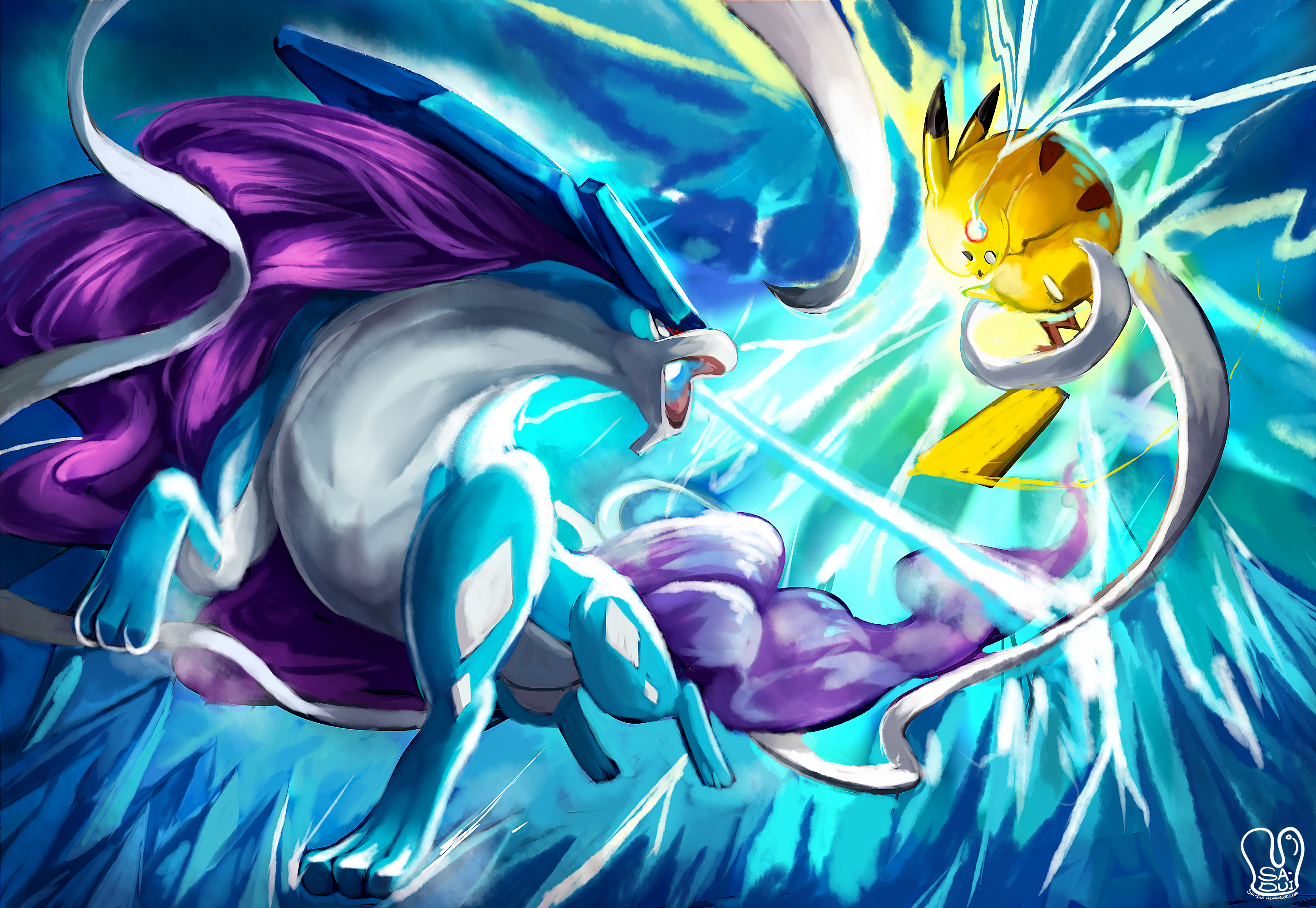 Image result for Suicune wallpaper