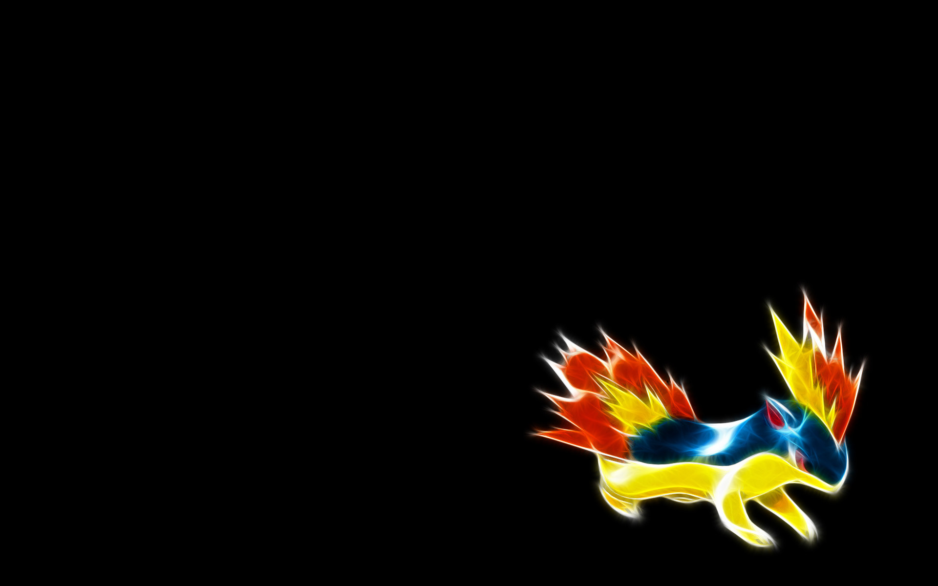 156 quilava – fractal pokemon wallpapers