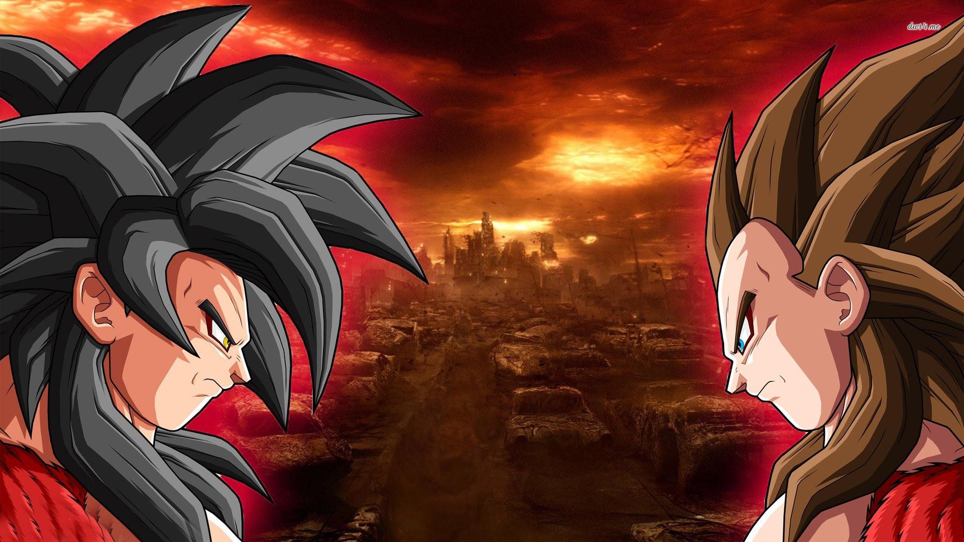 HD Quality Super Saiyan Goku Vs Vegeta Dragon Ball Z Wallpaper .