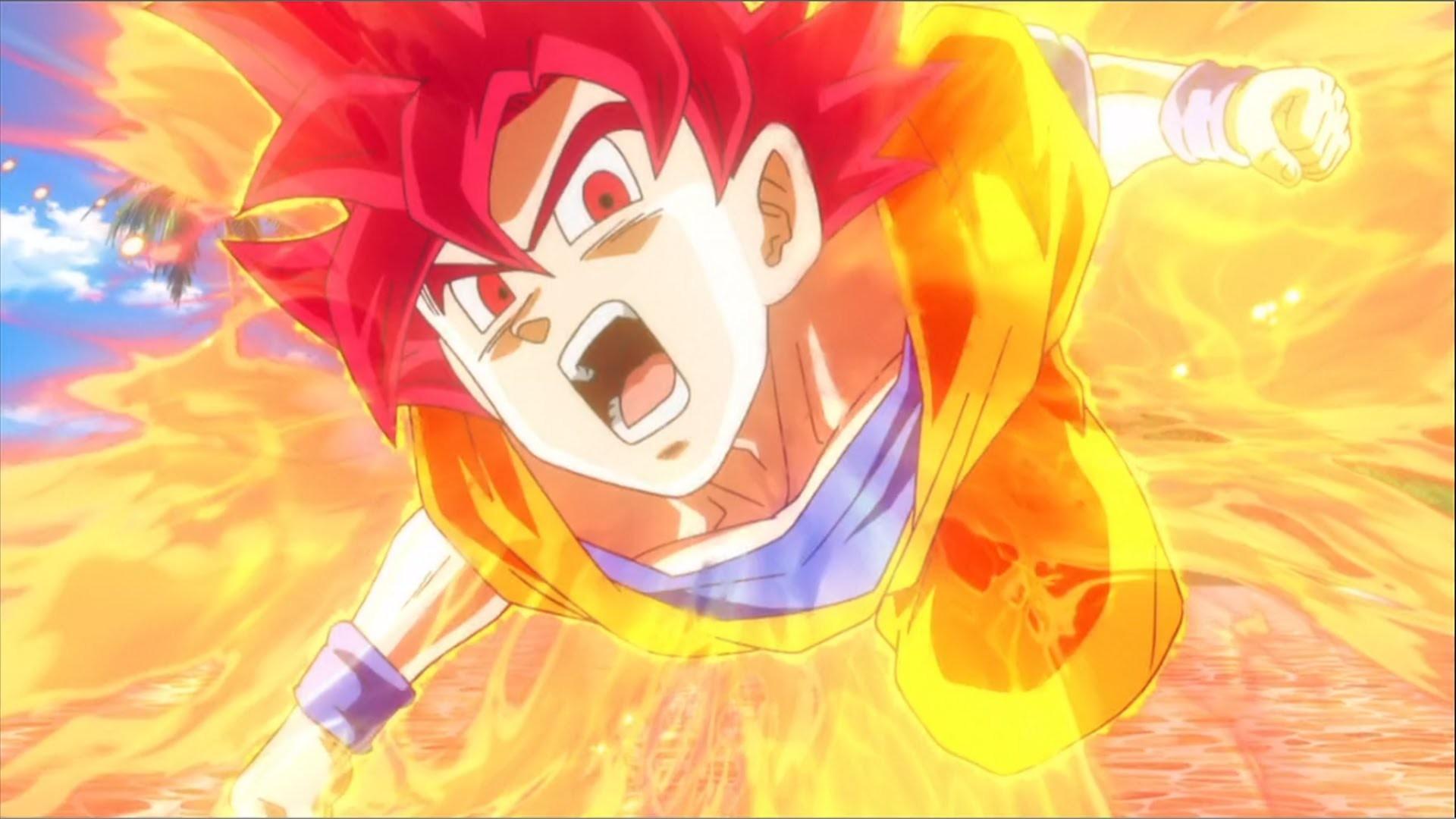 Son Goku Super Saiyan God Wallpaper