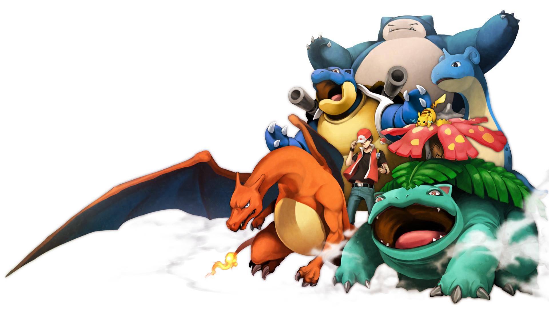 Tags: Anime, Pixiv Id 390464, Pokémon, Red (Pokémon), Snorlax