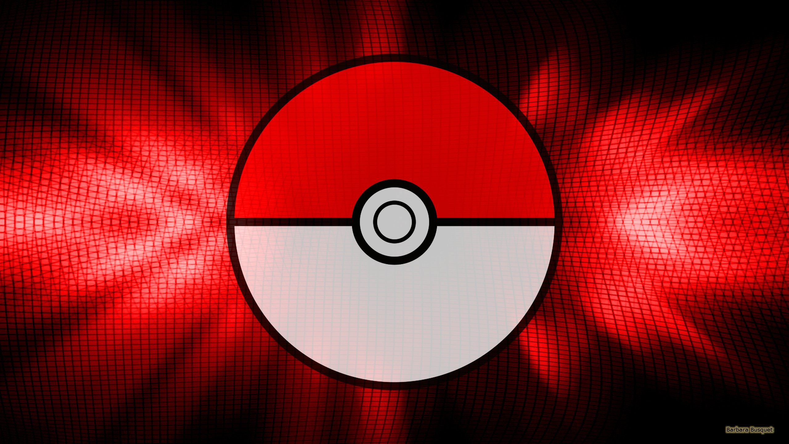 Black red Pokemon GO wallpaper with a pokeball.