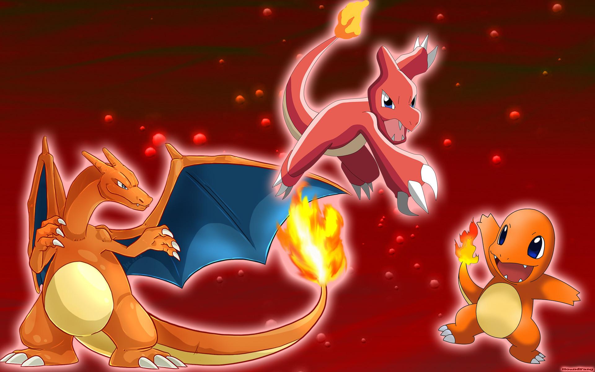 Pokemon fire red backgroundpokemon fire starter wide desktop .