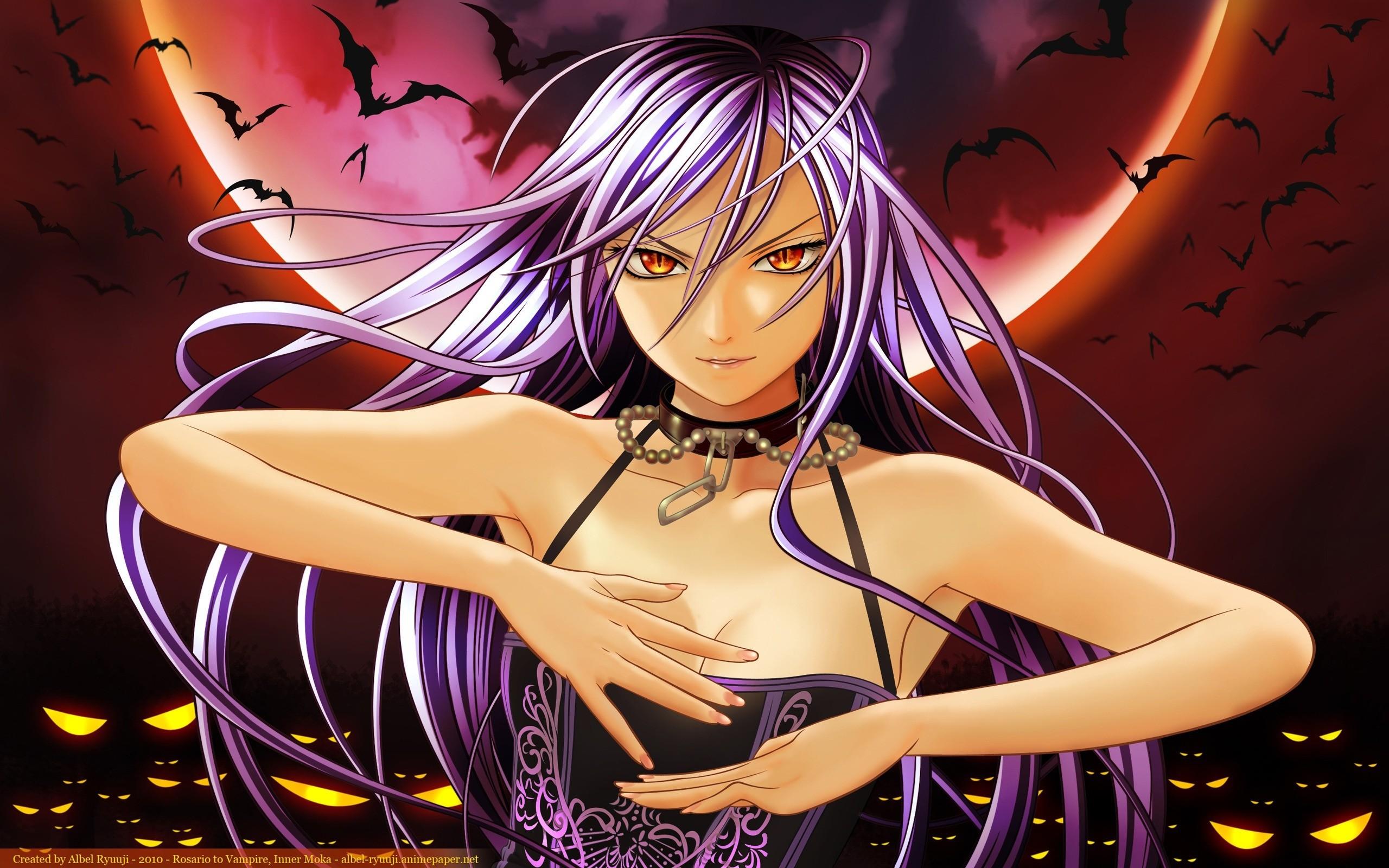 rosario vampire girl bat