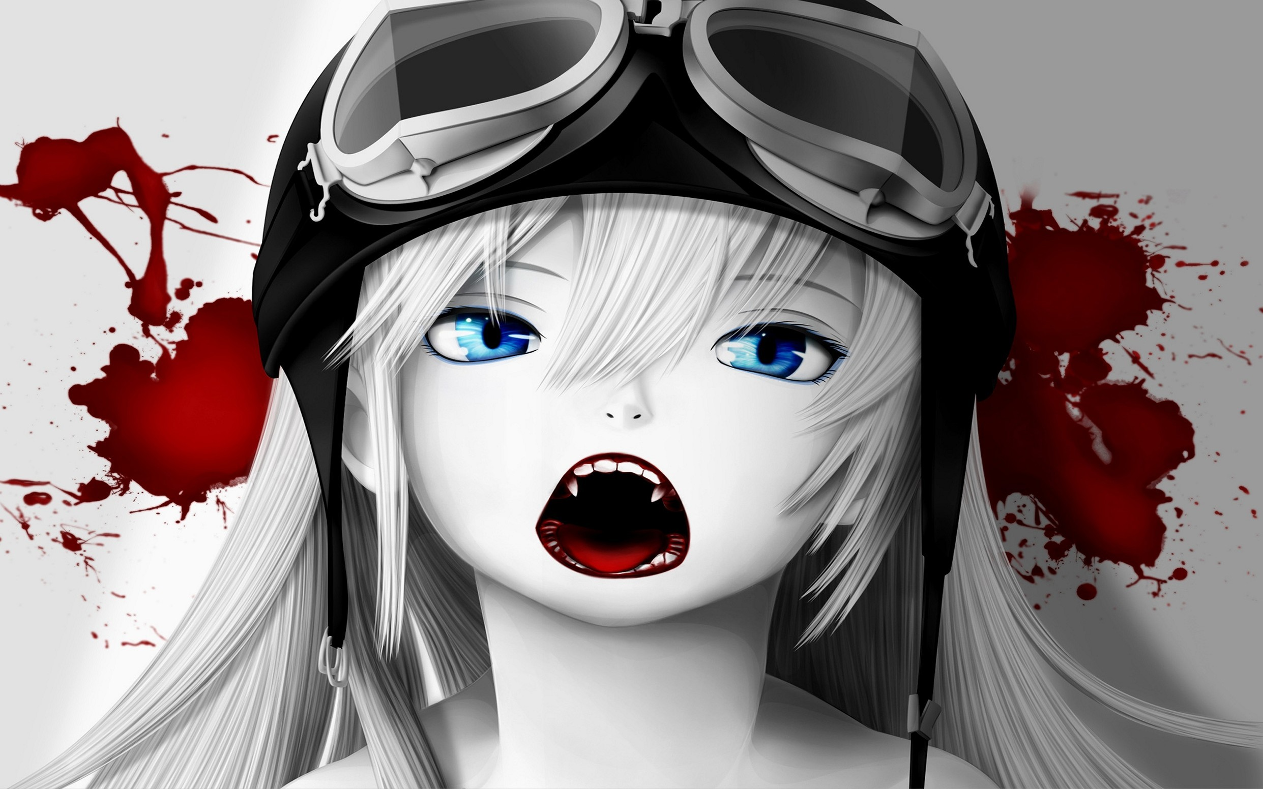 Girl Vampire Blood Glasses Mask Legendary Iphone Wallpaper Anime