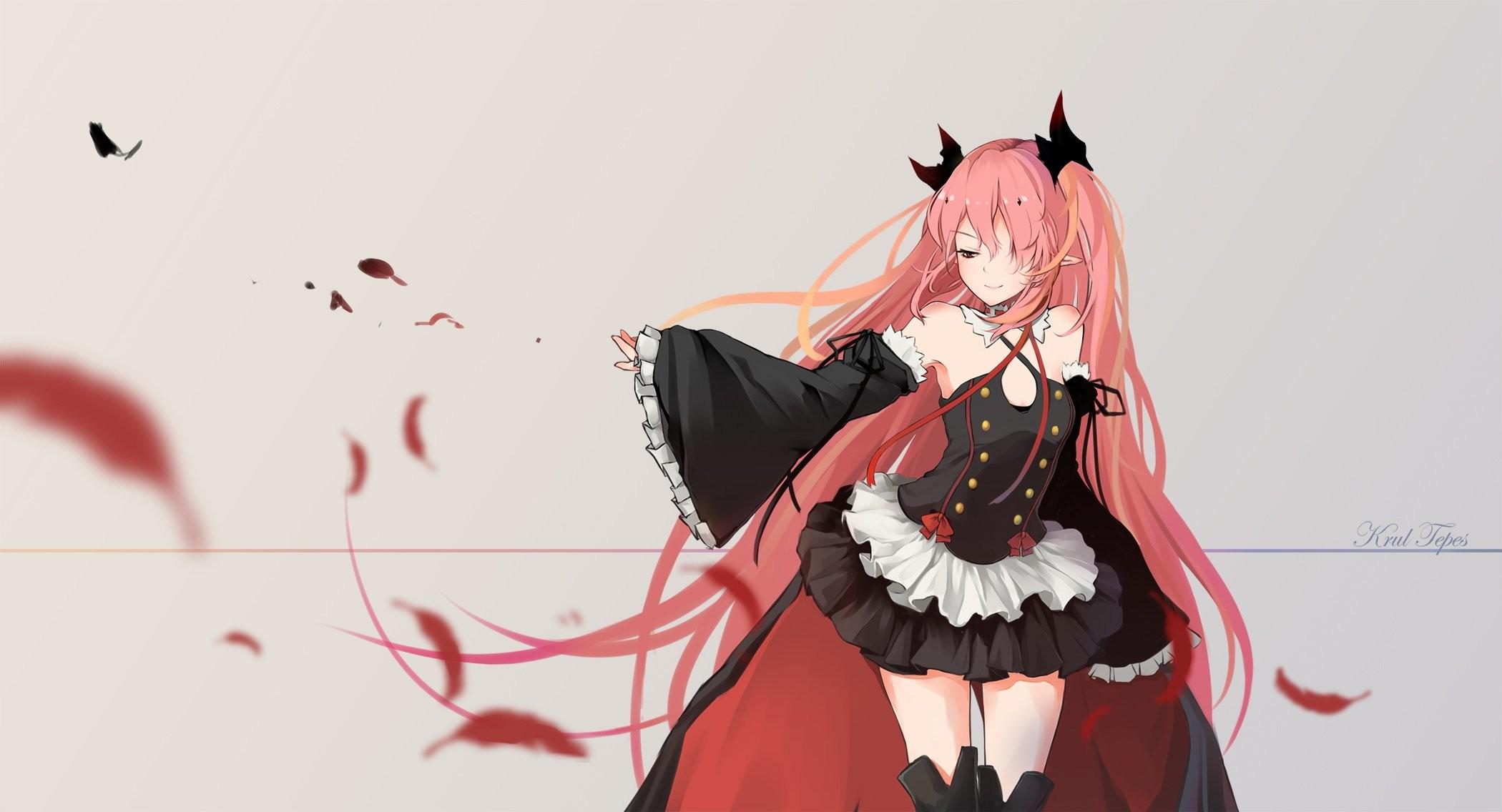 Owari no Seraph Series anime Character vampire girl dress pink hair  wallpaper | | 1008283 | WallpaperUP