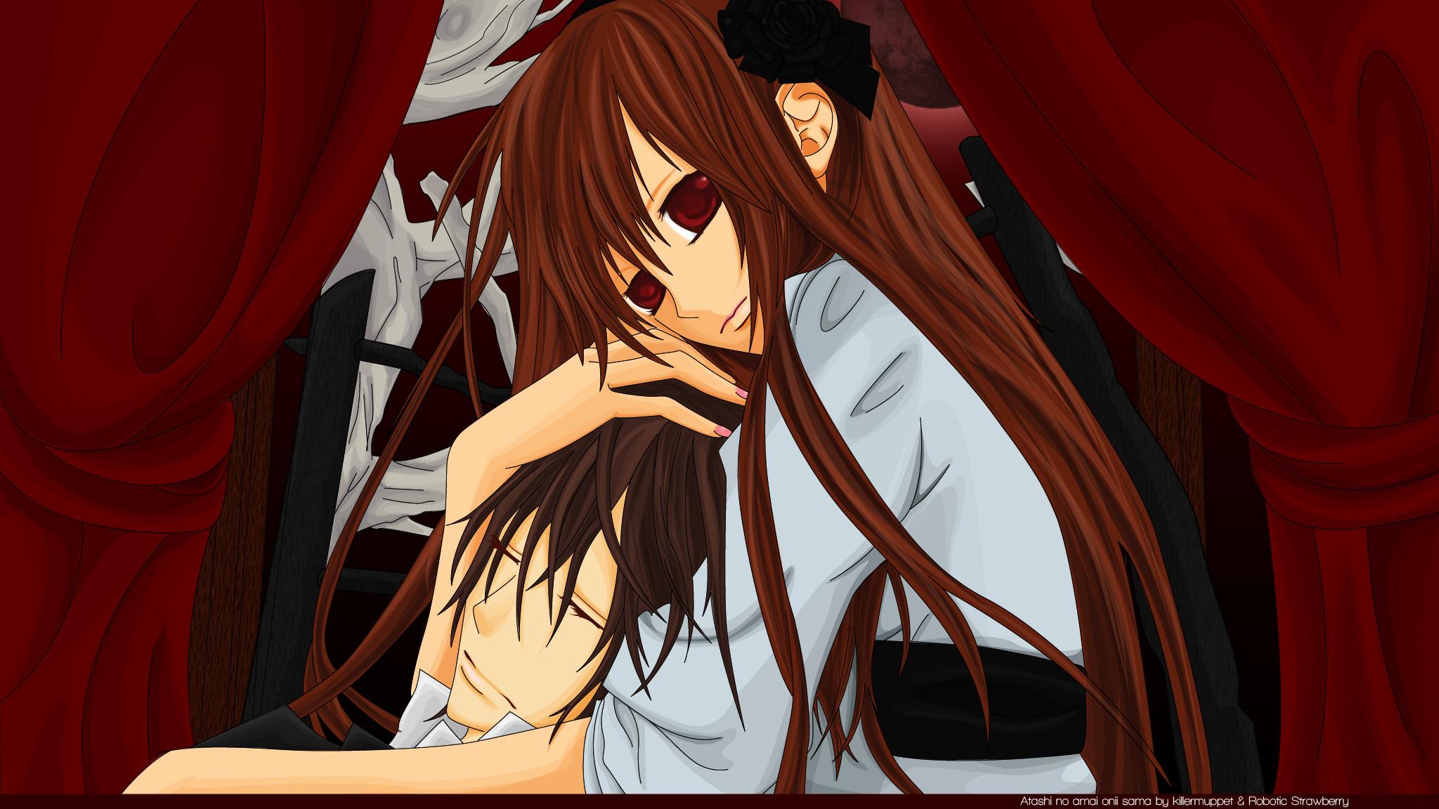 Tags: Anime, Vampire Knight, Kuran Kaname, Yuki Cross, Red Moon,