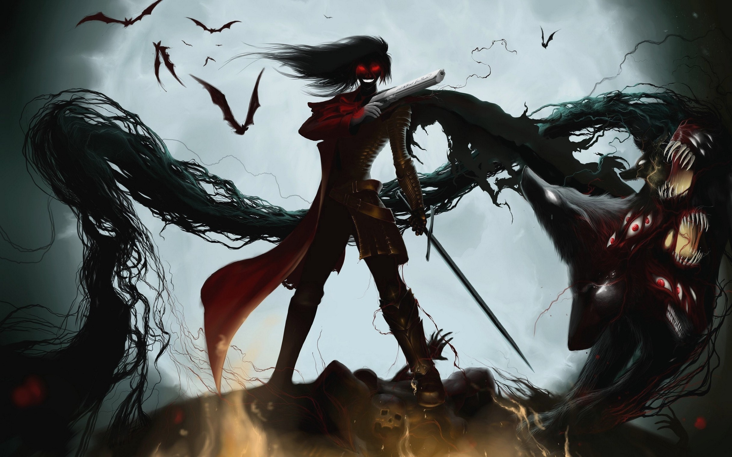 Hellsing Ultimate Alucard Vampire Anime Cute Wallpaper TEv444