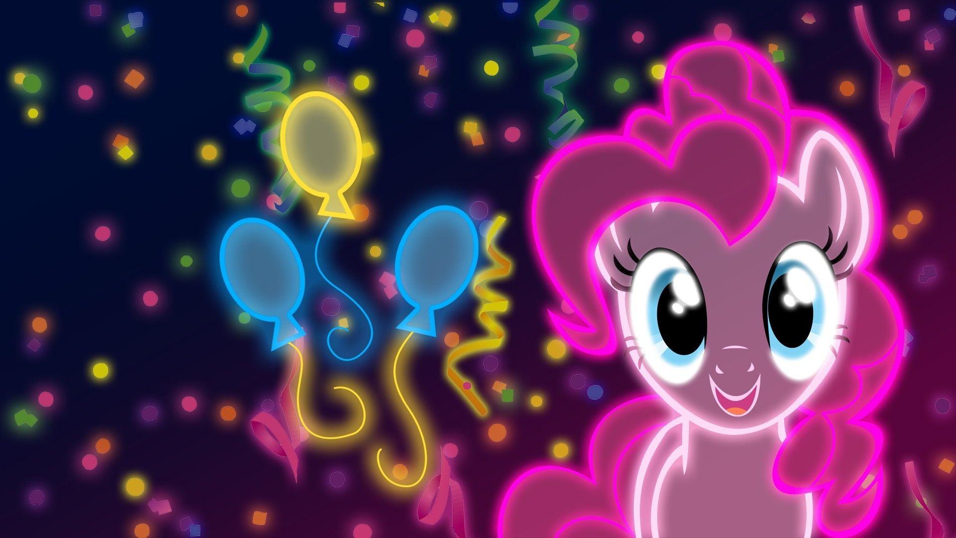My little pony: friendship is magic neon wallpaper