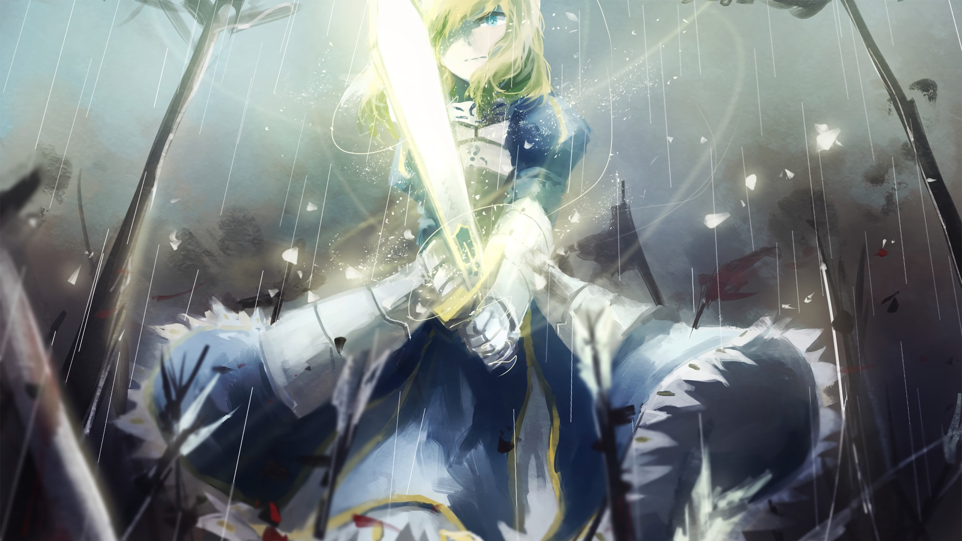 Anime Fate/Stay Night Saber (Fate Series) Wallpaper