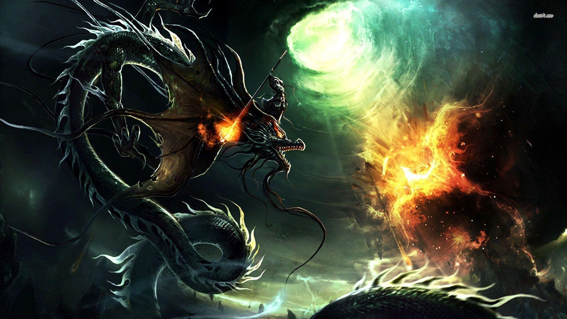 Dragon vs phoenix wallpaper | Wallpaper Wide HD