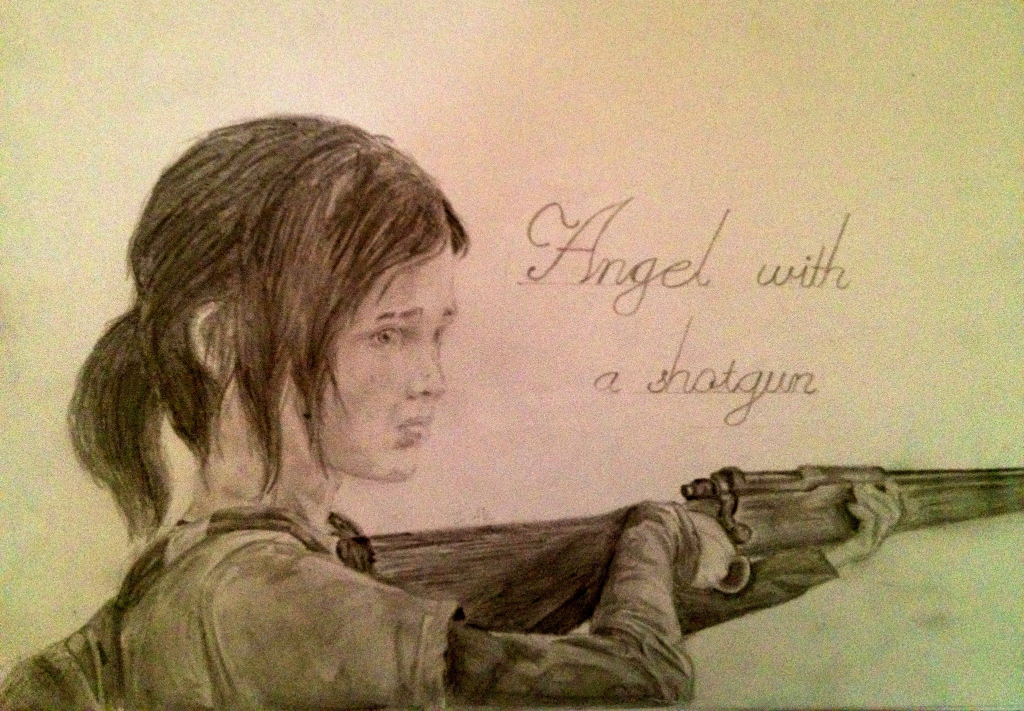 … The Last Of Us- Ellie, an angel with a shotgun by zakValkyrie