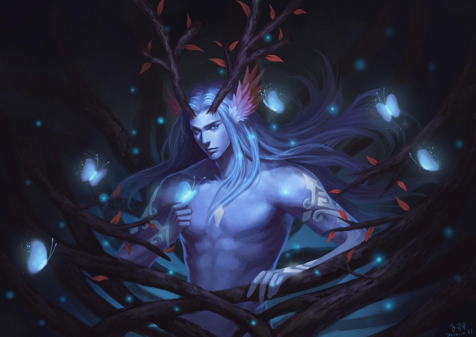 Supernatural beings Man Horns Fantasy wallpaper background