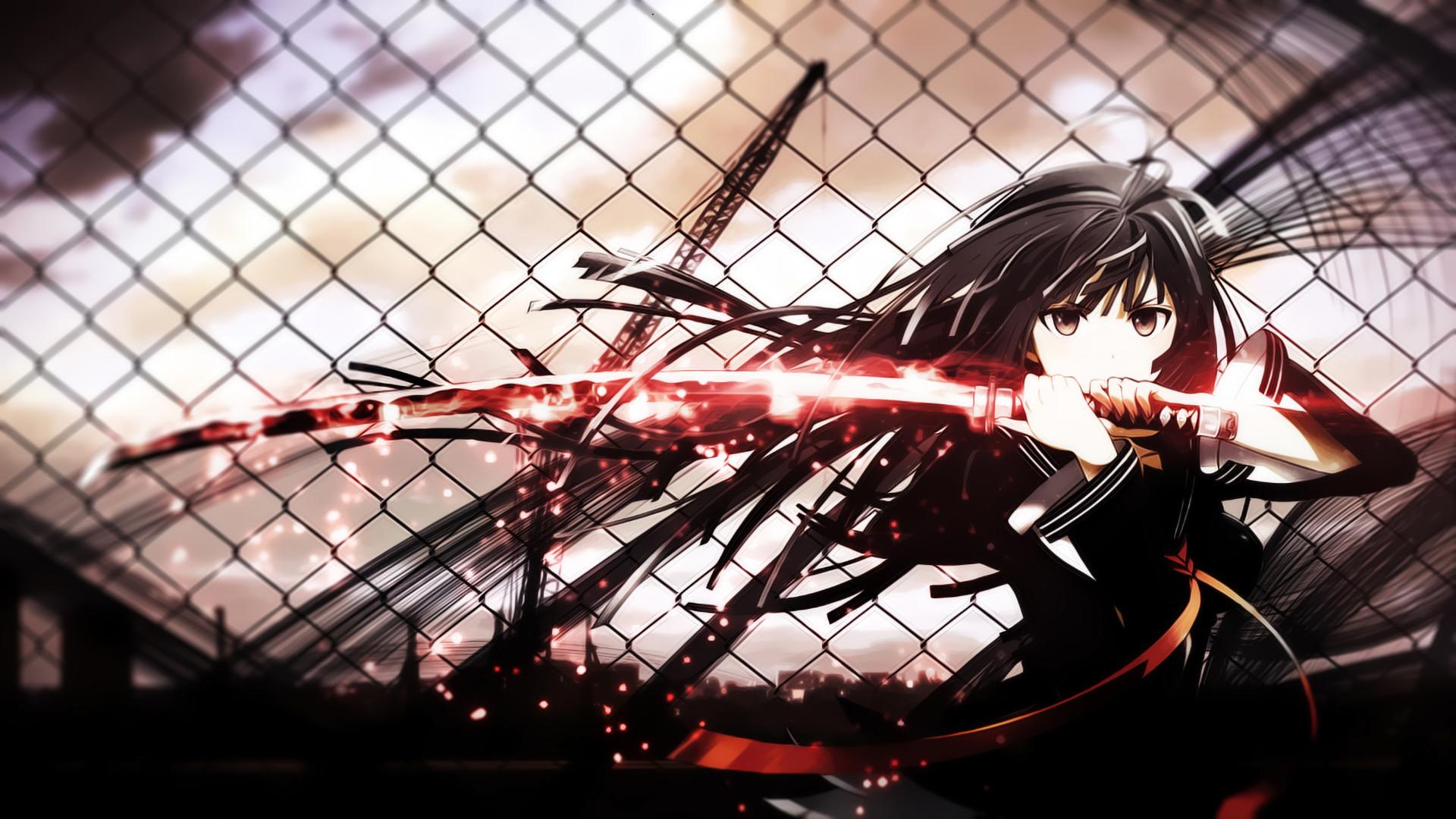 Anime Wallpaper Aoki Hagane no Arpeggio, Kisara Tendo, Black  Bullet, sword